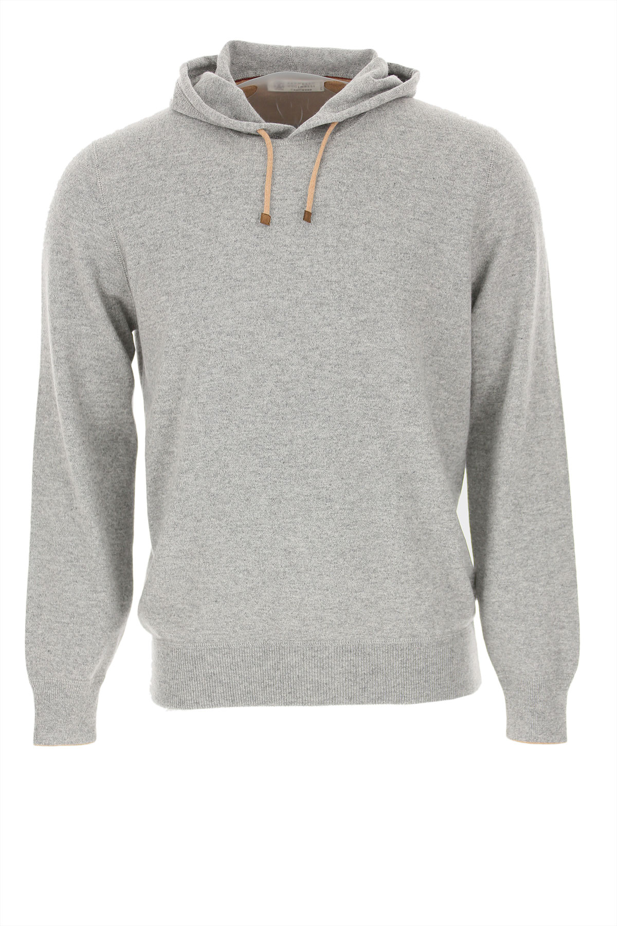 Brunello Cucinelli Sweater for Men Jumper, Grey, Cashmere, 2019, M XL