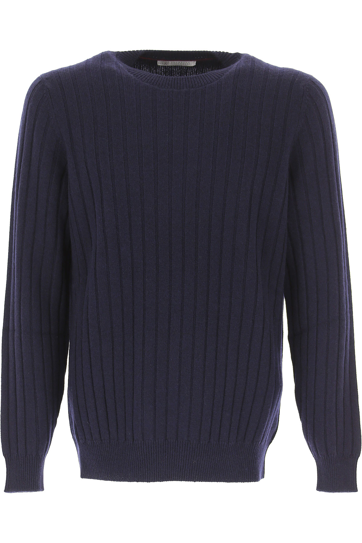 Brunello Cucinelli Sweater for Men Jumper, Navy Blue, Cashemere, 2019, L XL