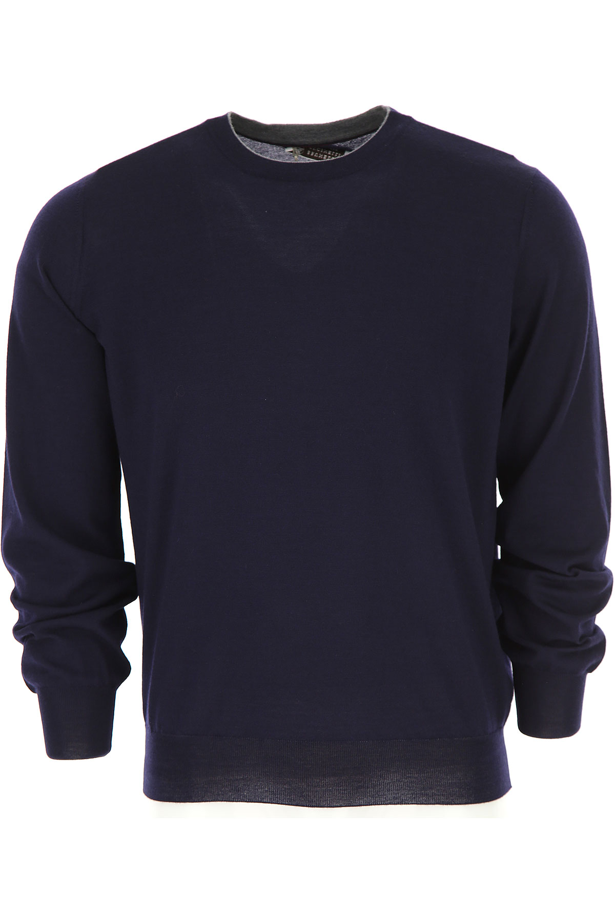 Brunello Cucinelli Sweater for Men Jumper, Blue Navy, Virgin wool, 2017, L M S XL XXL USA-474879