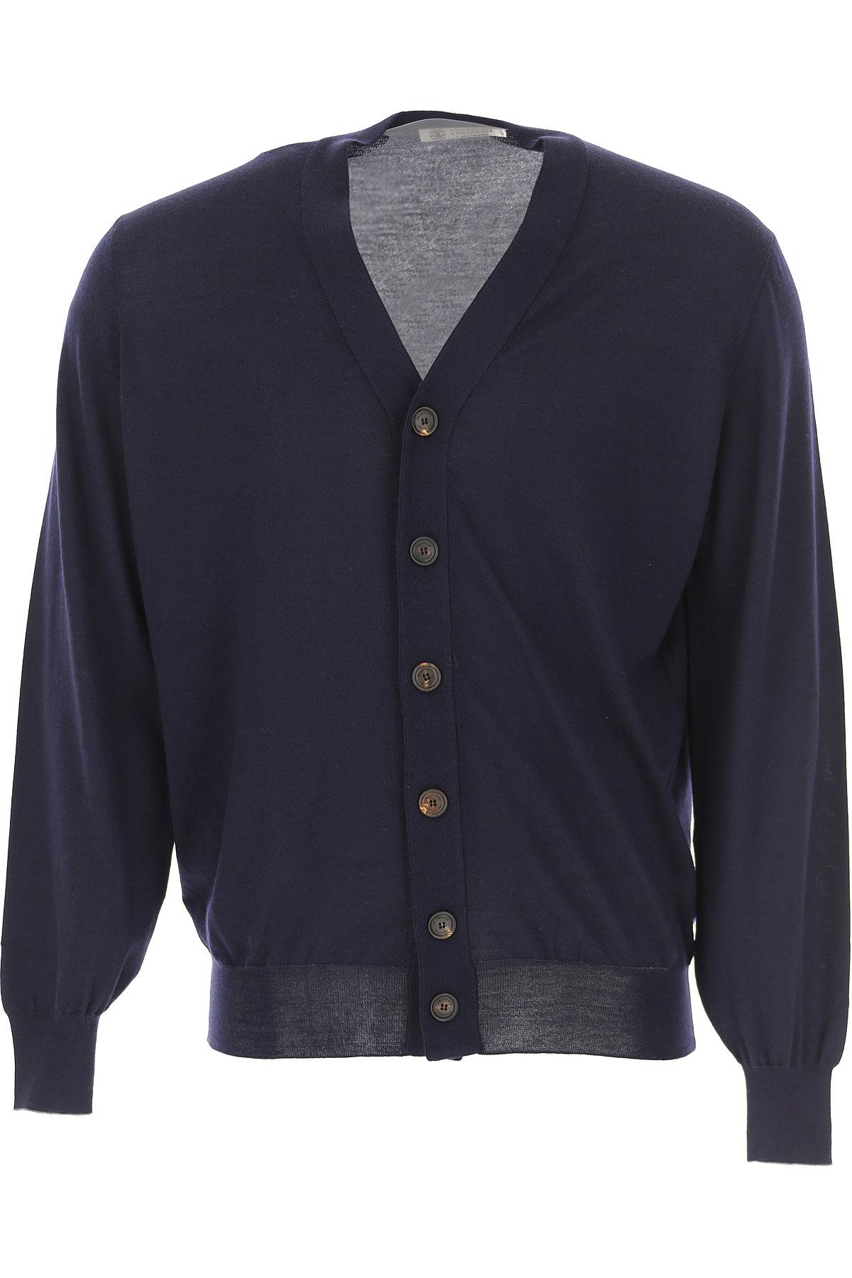 Brunello Cucinelli Sweater for Men Jumper On Sale, Blue Navy, Virgin wool, 2019, XL XXL