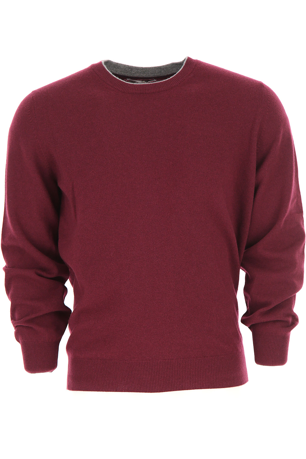 Brunello Cucinelli Sweater for Men Jumper, Bordeaux Wine, Virgin wool, 2017, L M S XL XXL USA-474965