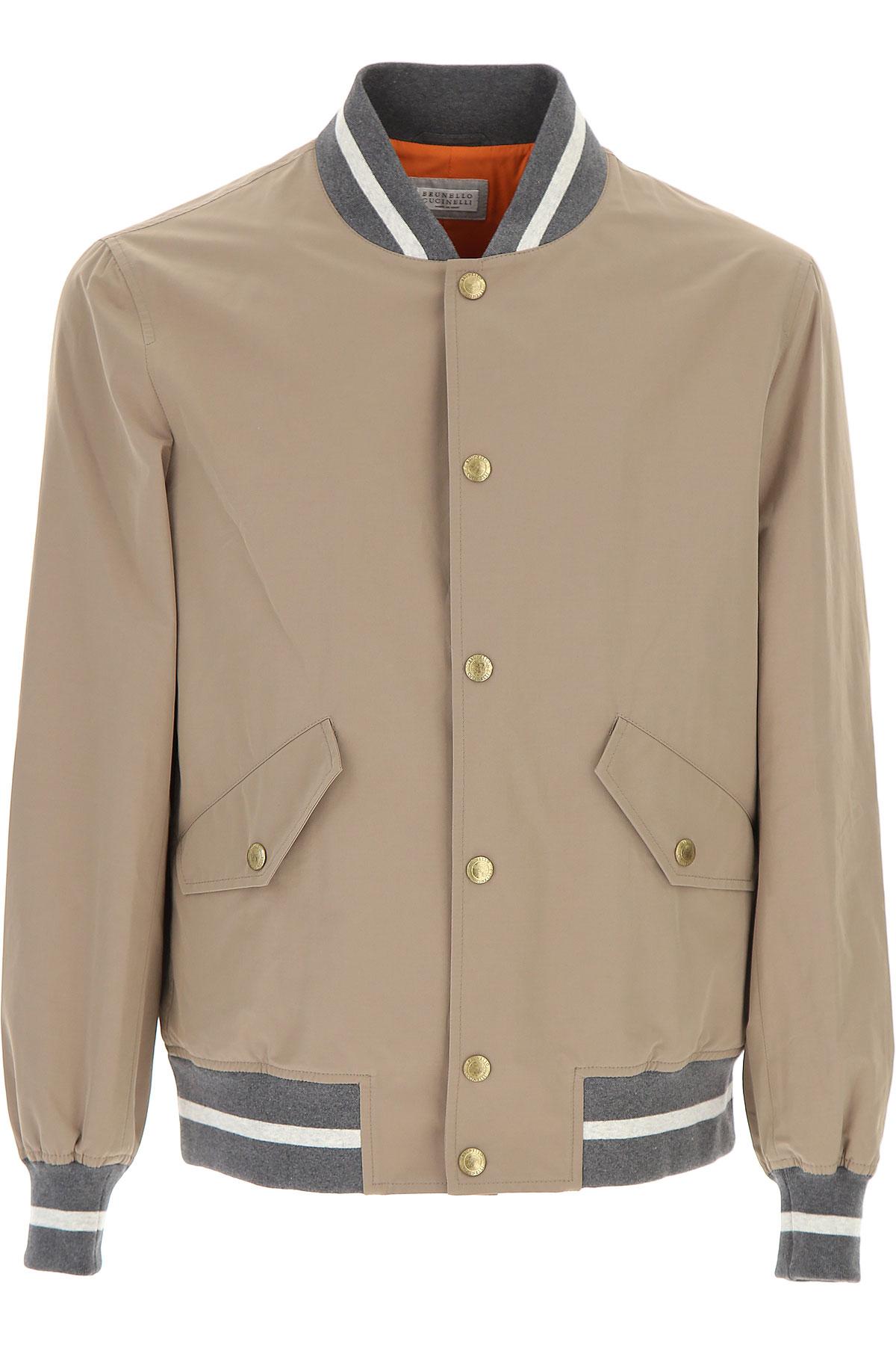 Image of Brunello Cucinelli Jacket for Men On Sale, Beige, polyestere, 2017, L M XL