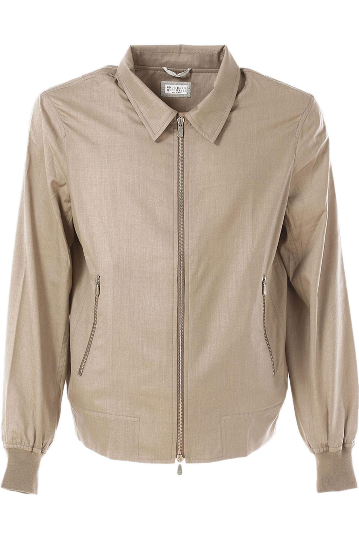 Image of Brunello Cucinelli Jacket for Men On Sale in Outlet, Dark Rope, Virgin wool, 2017, L M