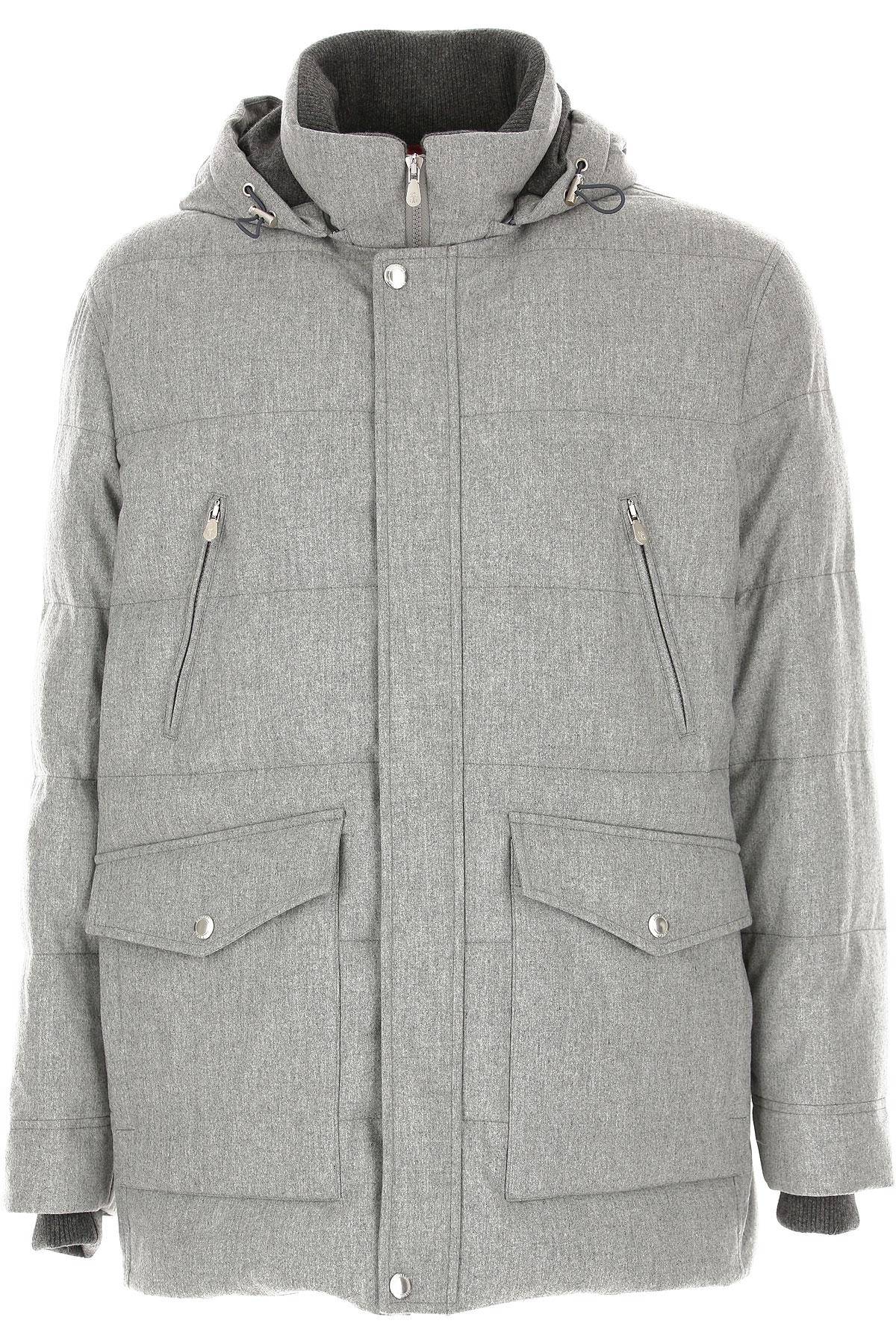 Brunello Cucinelli Jacket for Men On Sale, Grey, Wool, 2019, L M XL