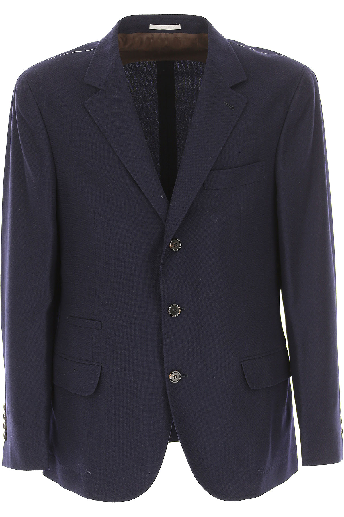 Brunello Cucinelli Blazer for Men, Sport Coat, Navy Blue, Cashemere, 2019, L M XL