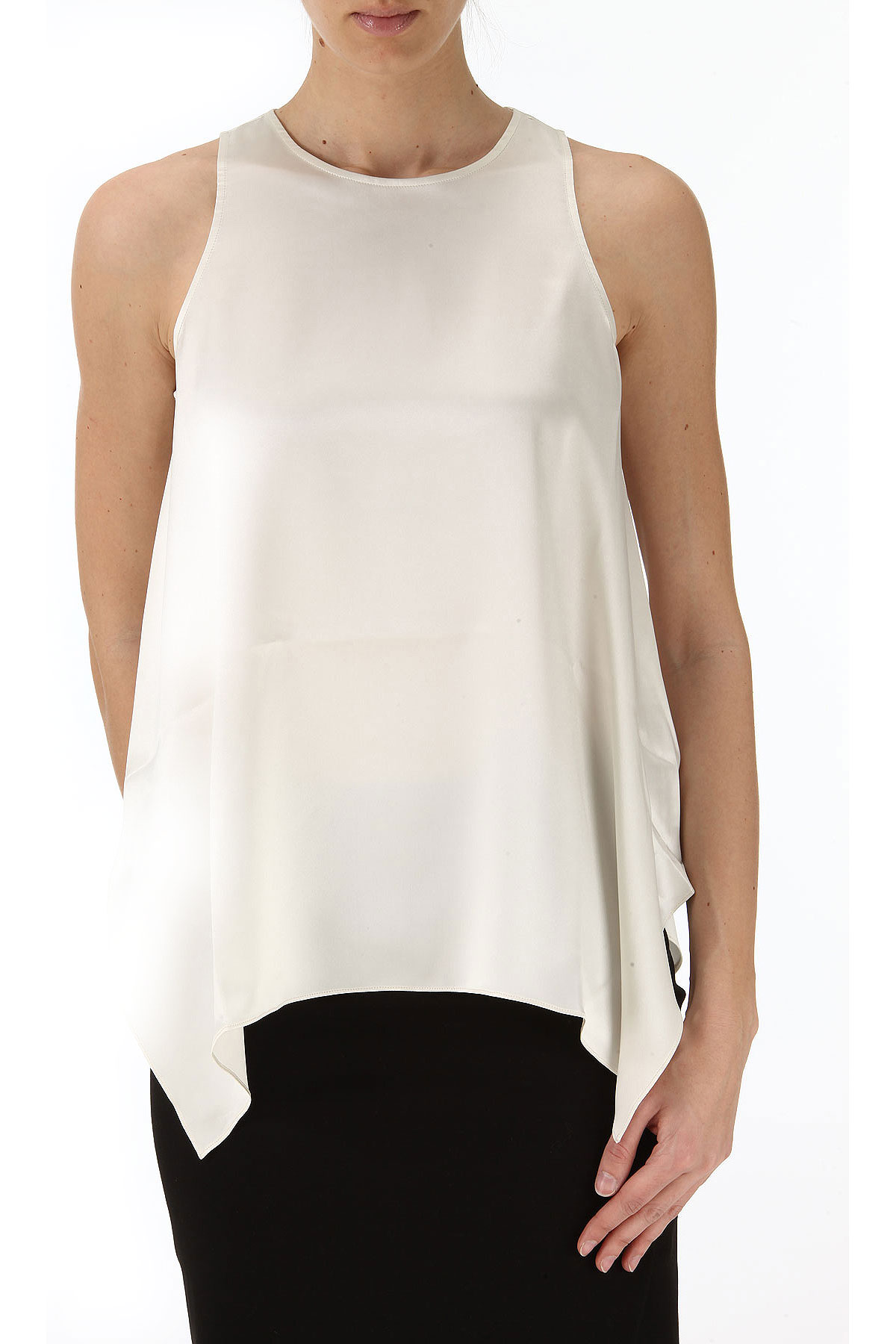 Brunello Cucinelli Top for Women On Sale in Outlet, Vanilla, Silk, 2017, 6 8 USA-352149