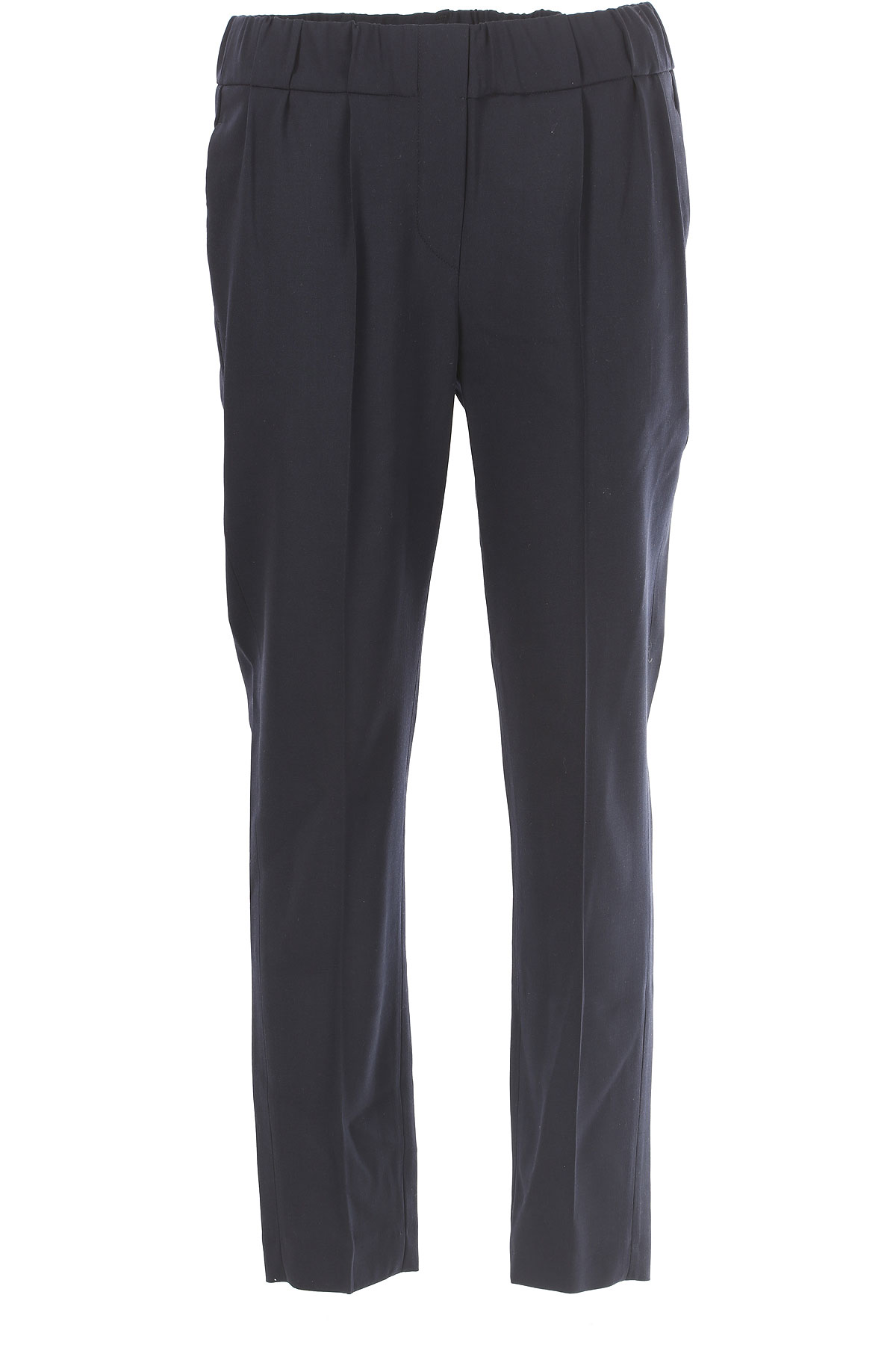 Brunello Cucinelli Pants for Women On Sale in Outlet, Bleu, Wool, 2019, 30 32
