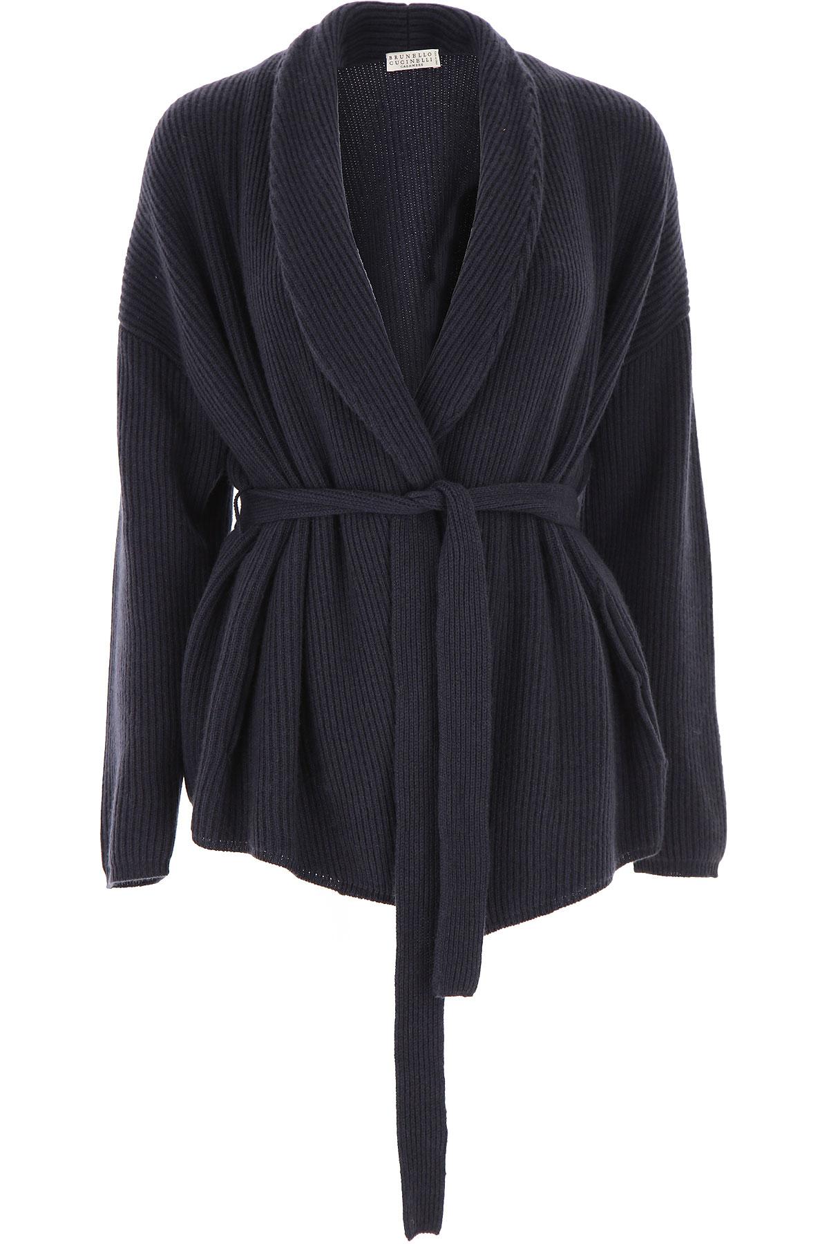 Brunello Cucinelli Sweater for Women Jumper On Sale, Blue, Cashmere, 2019, 2 4 6