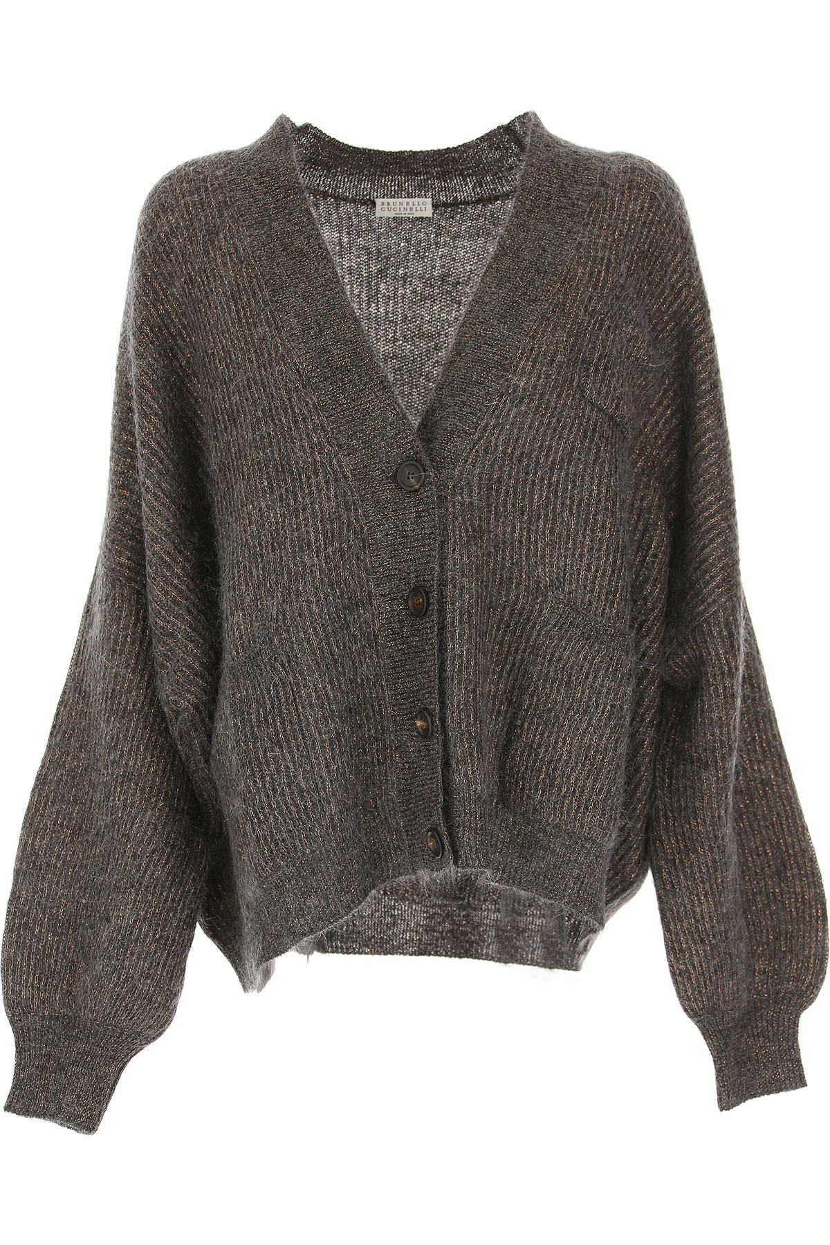 Brunello Cucinelli Sweater for Women Jumper On Sale, Grey, Mohair, 2019, 4 6