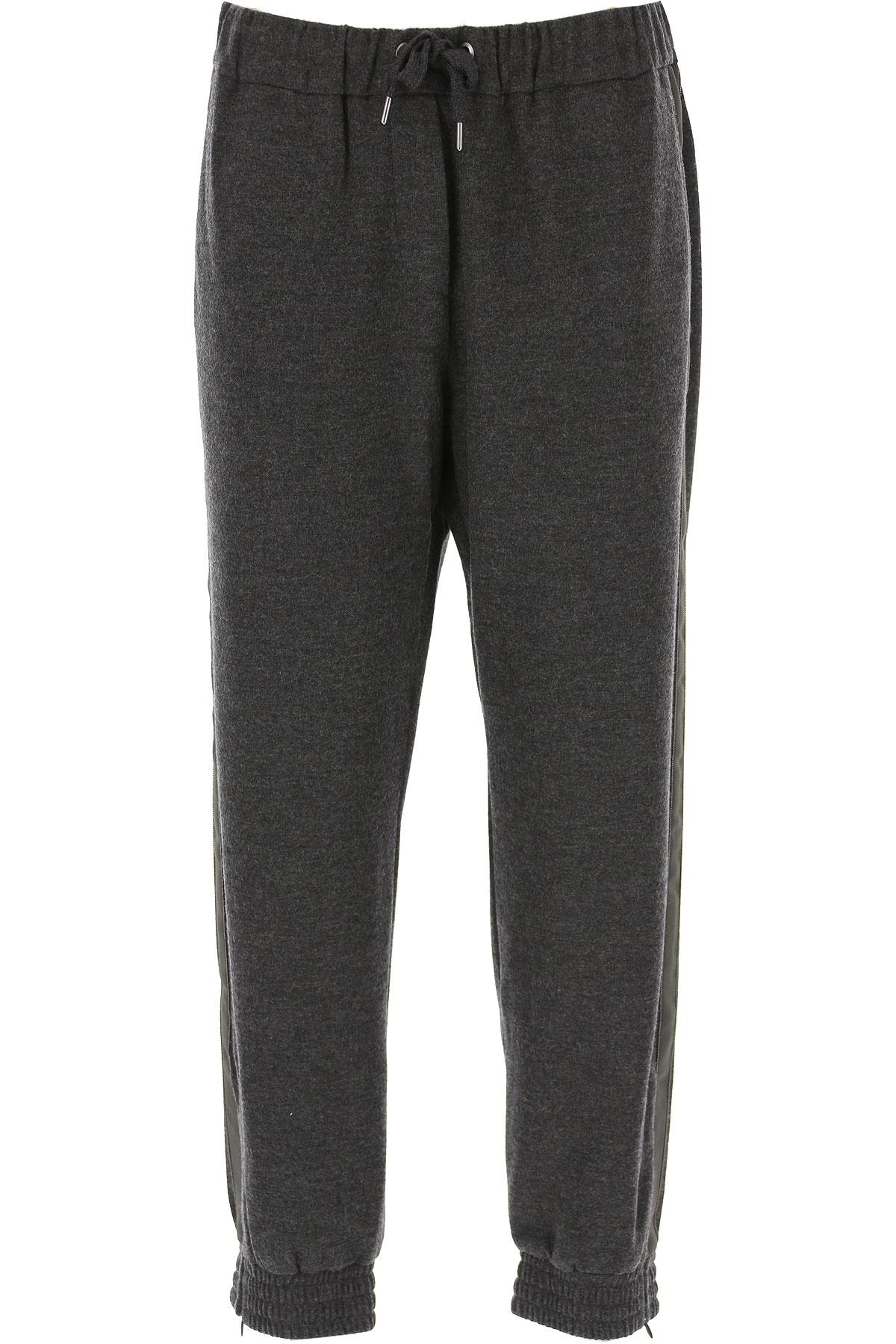 Brunello Cucinelli Pants for Women On Sale, Dark Grey, Cashmere, 2019, M (IT 42 ) L (IT 44 )