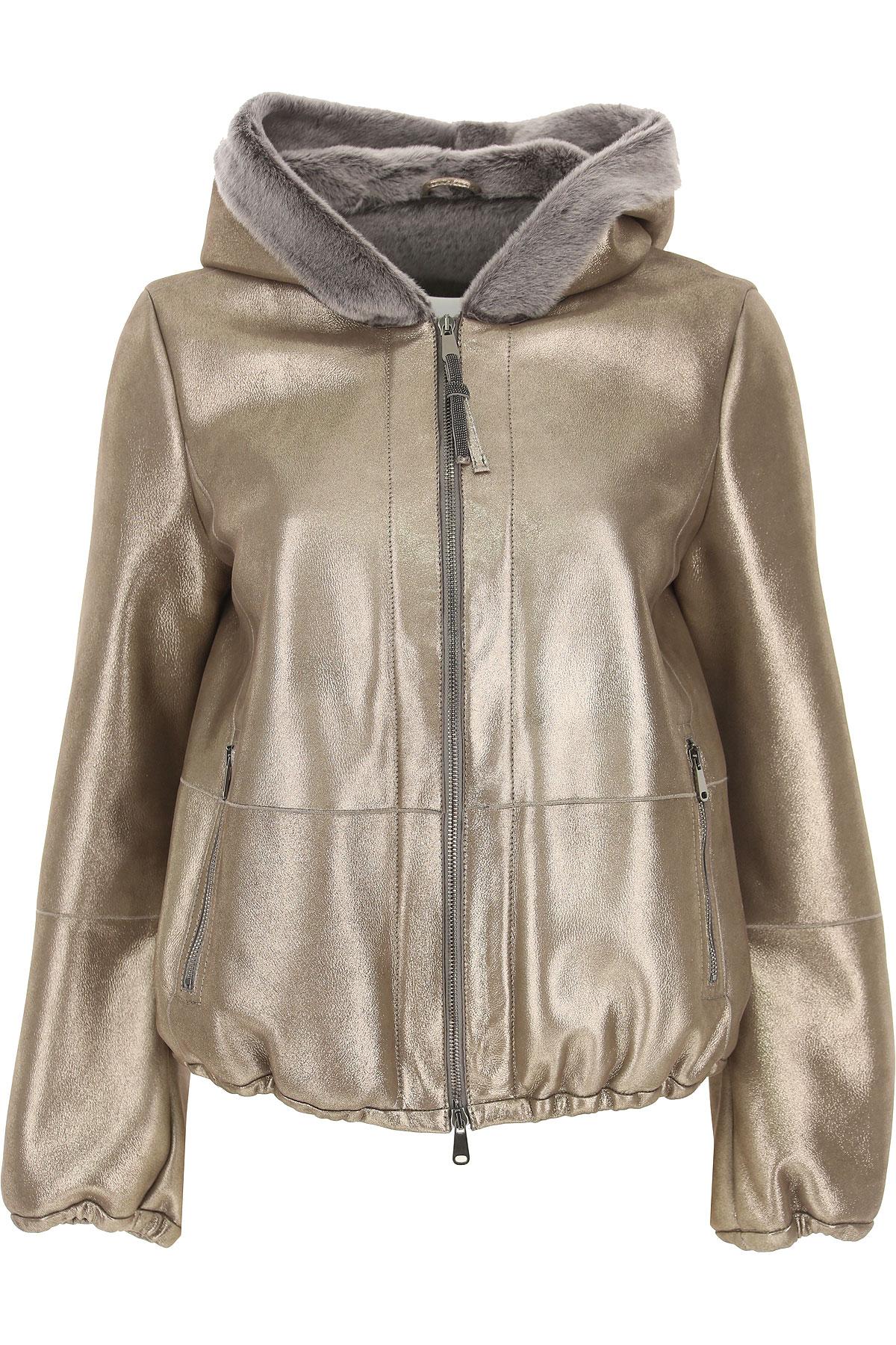 Brunello Cucinelli Jacket for Women On Sale, Gold, acetate, 2019, 4 6