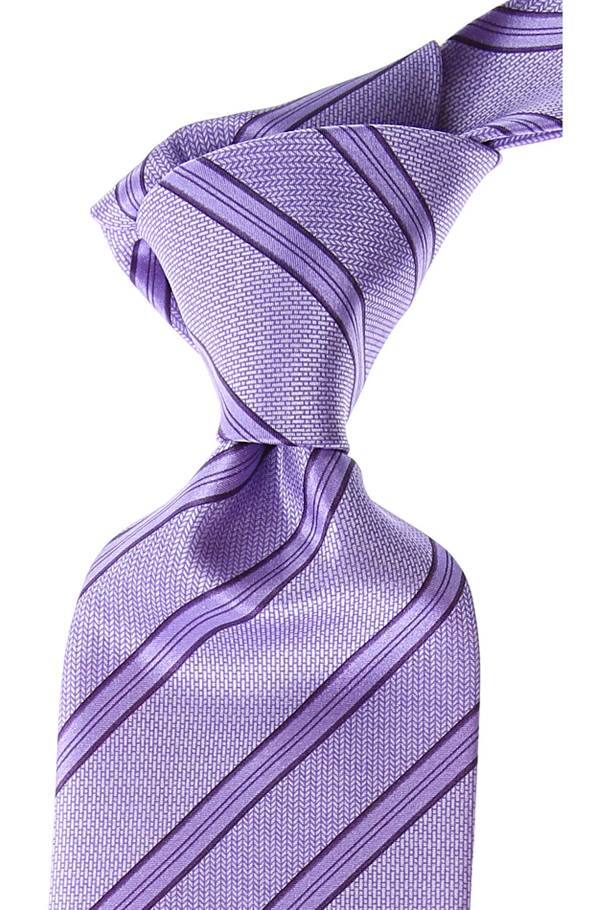 Brioni Ties On Sale, Bright Lilac, Silk, 2019