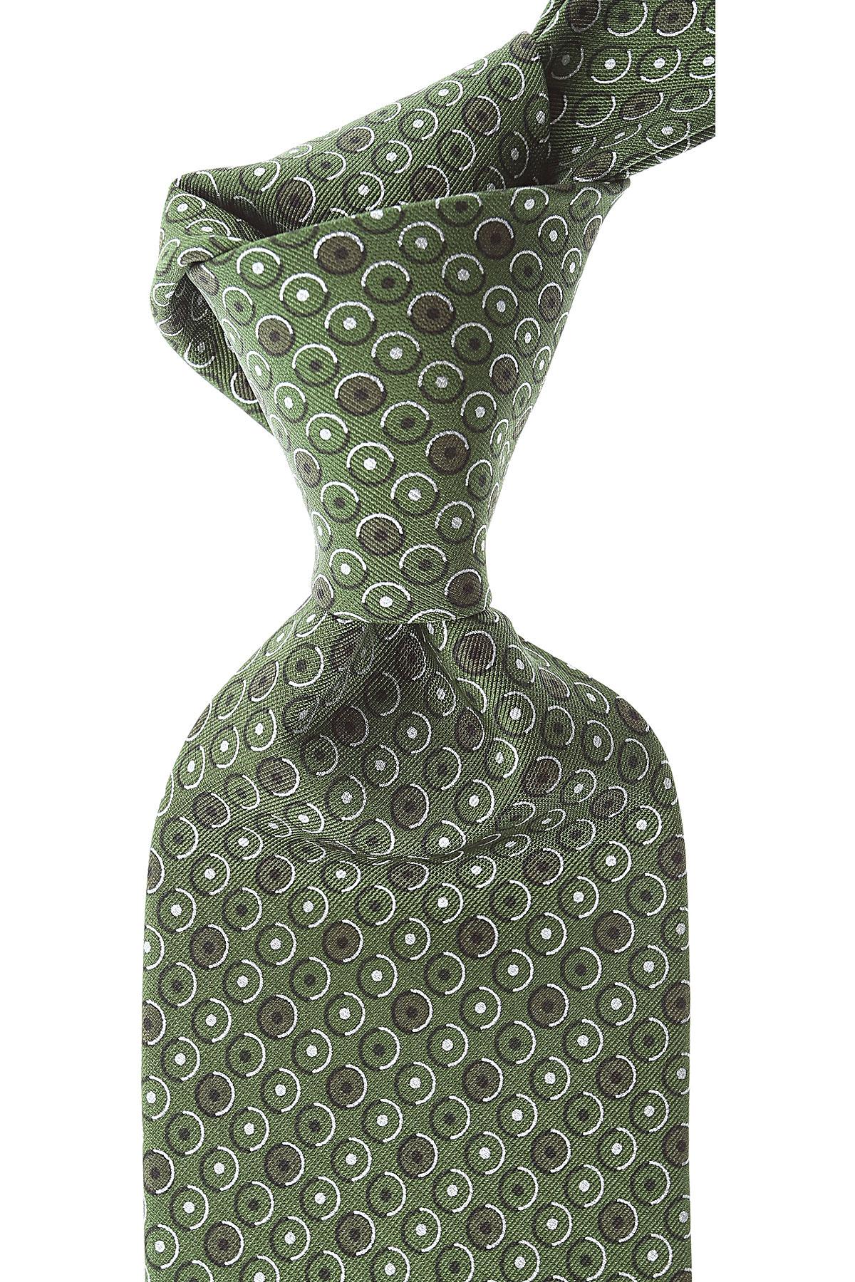 Brioni Ties On Sale, Bottle Green, Silk, 2019