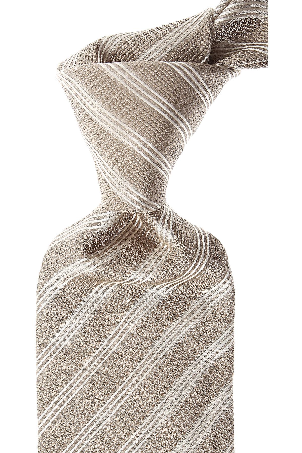 Brioni Ties On Sale, Beige Brown Melange, Silk, 2019