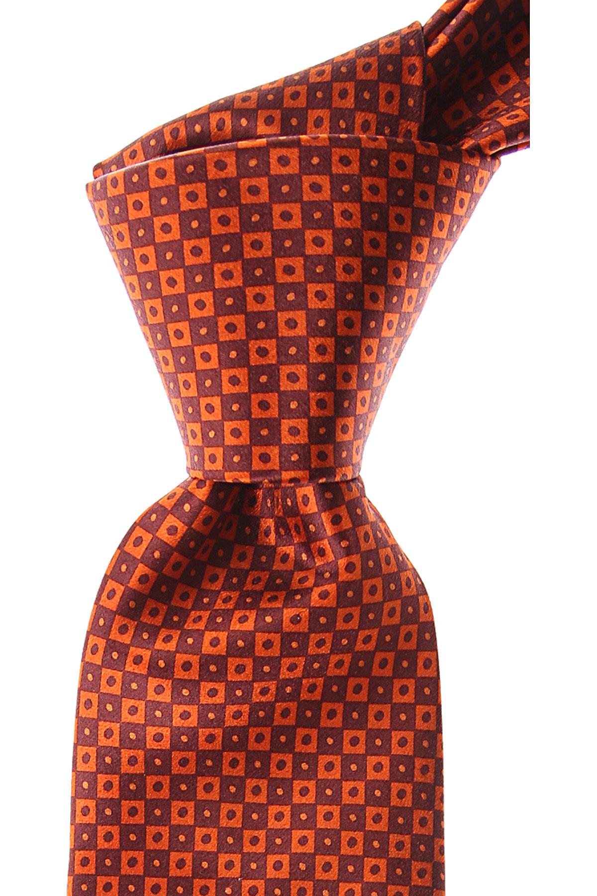 Brioni Ties On Sale, Buckley Orange, Silk, 2019