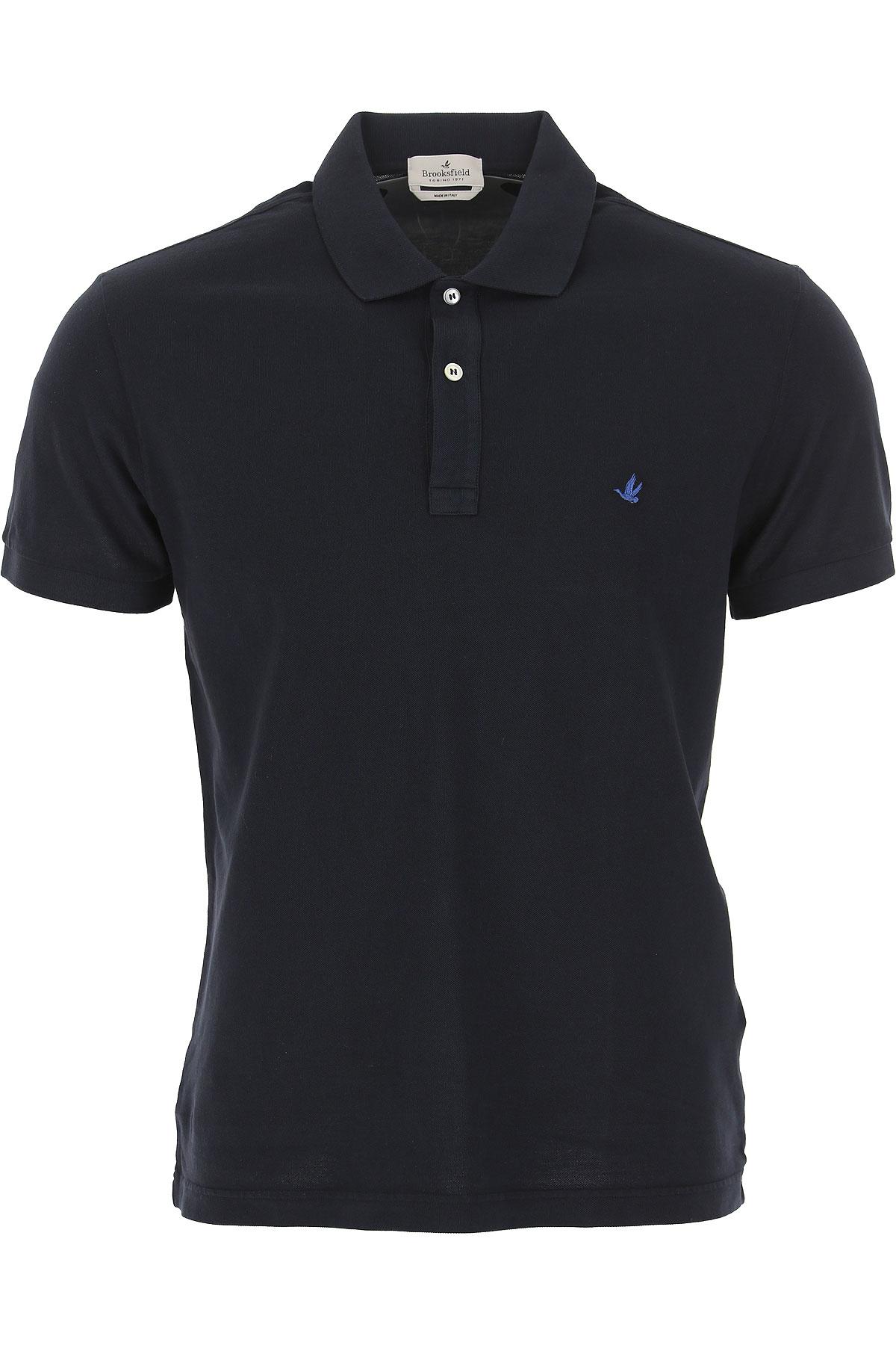 Brooksfield Polo Shirt for Men On Sale, Navy Blue, Cotton, 2019, L XL