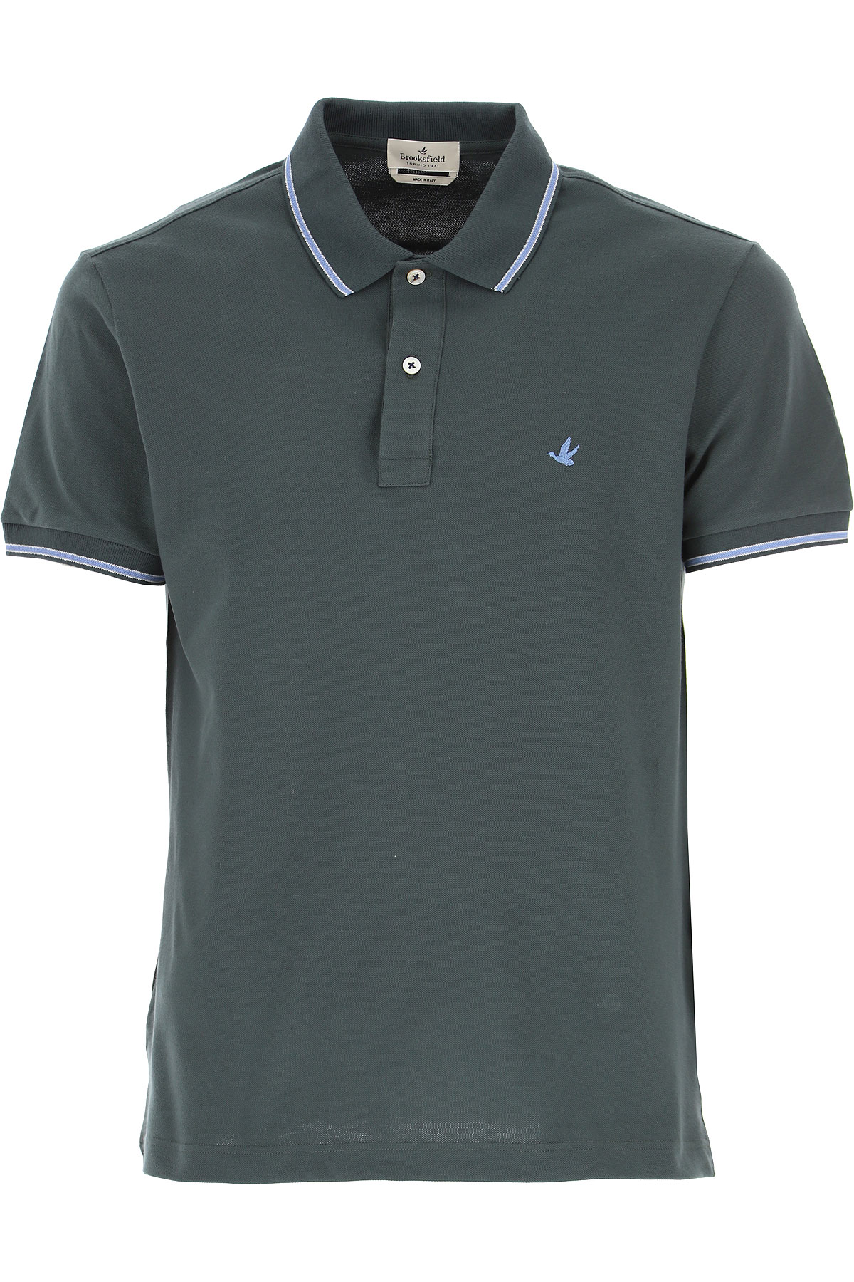 Brooksfield Polo Shirt for Men On Sale, Dark Olive Green, Cotton, 2019, L M XXL XXXL