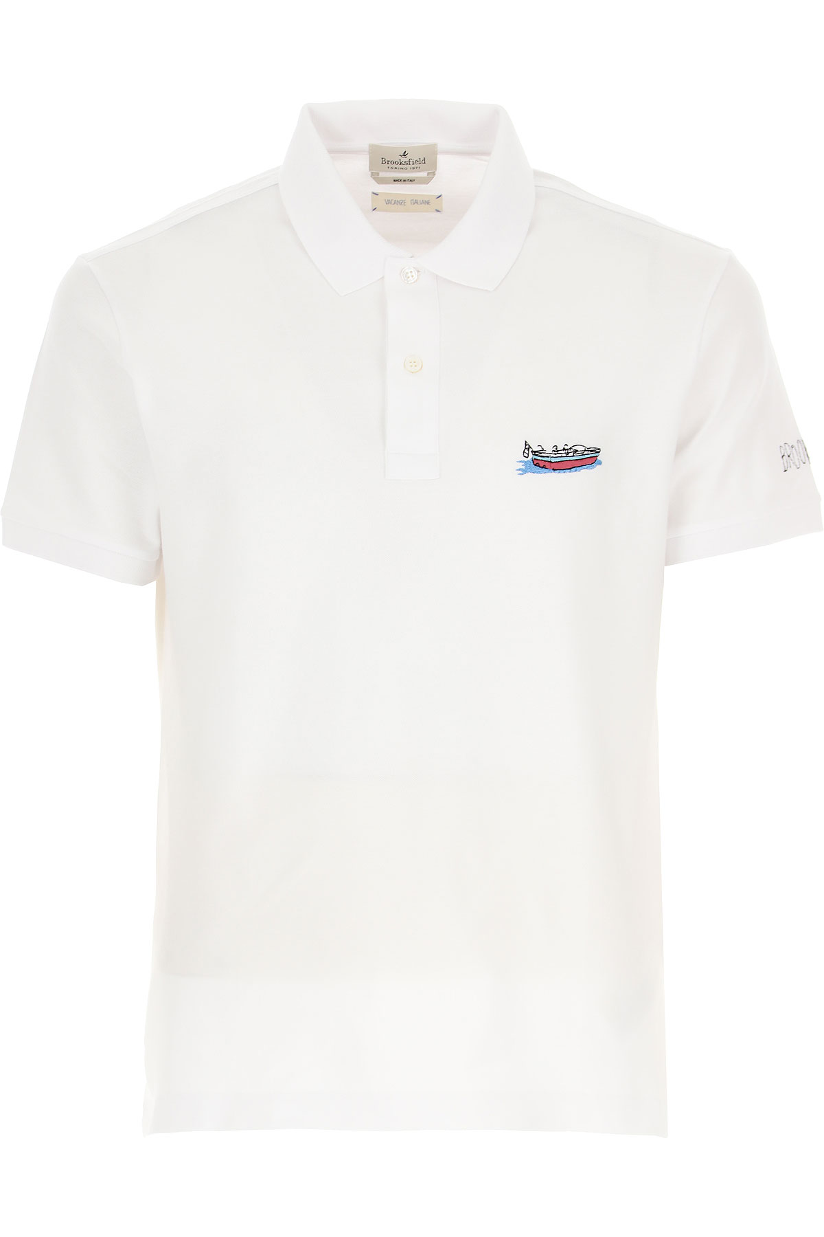 Brooksfield Polo Shirt for Men On Sale, White, Cotton, 2019, L M XL XXL