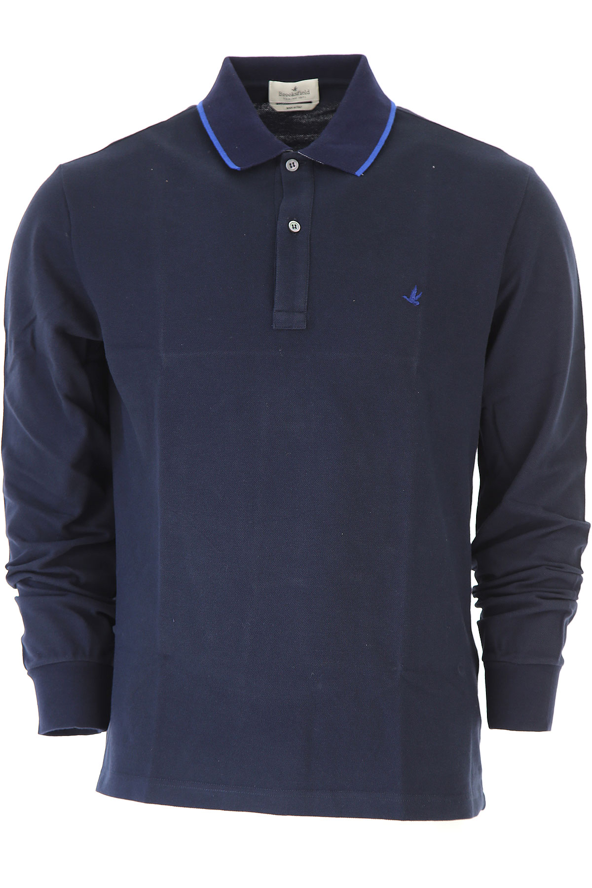 Image of Brooksfield Polo Shirt for Men, Blue Ink, Cotton, 2017, L M