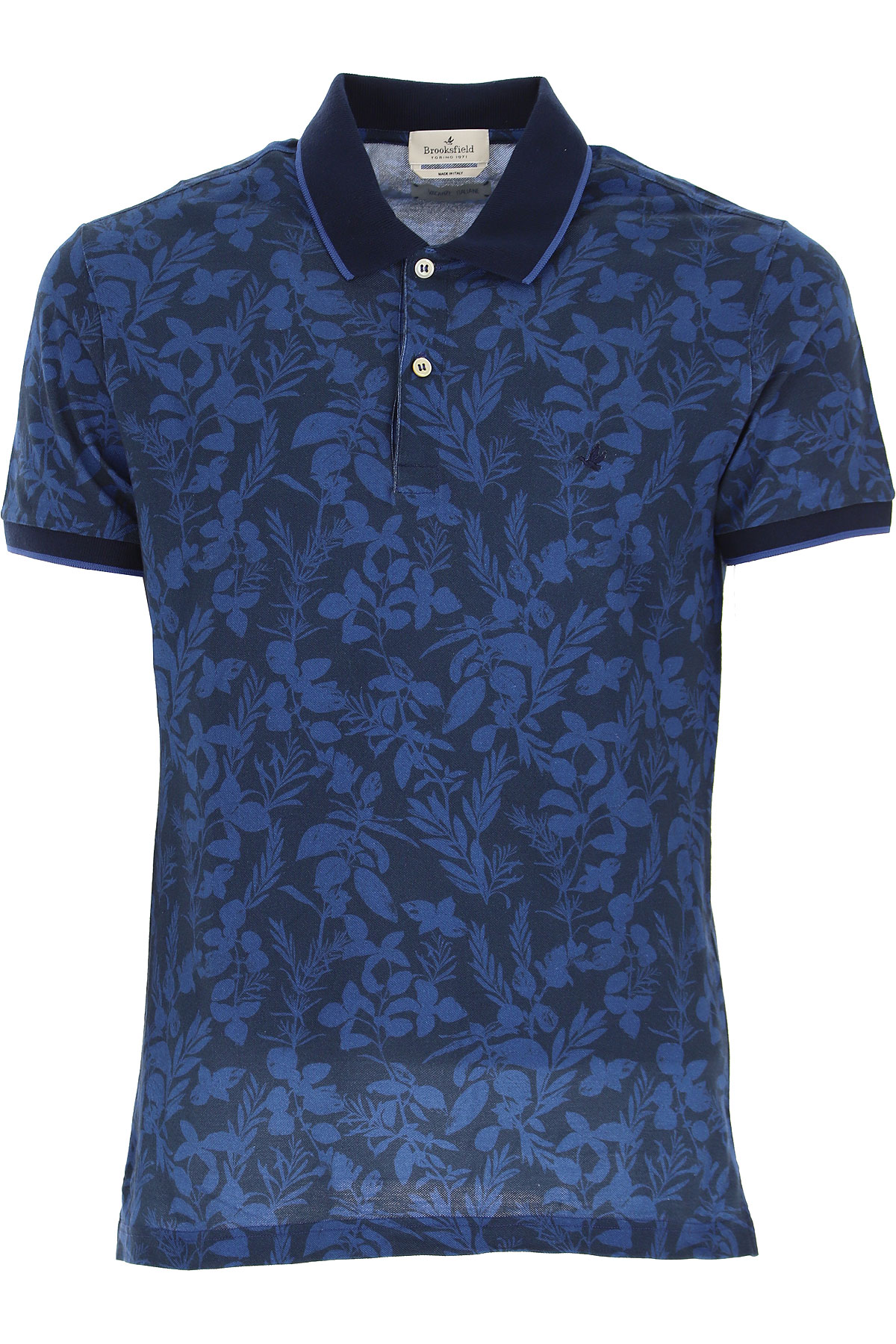 Brooksfield Polo Shirt for Men On Sale, Blue, Cotton, 2019, L M XL XXL