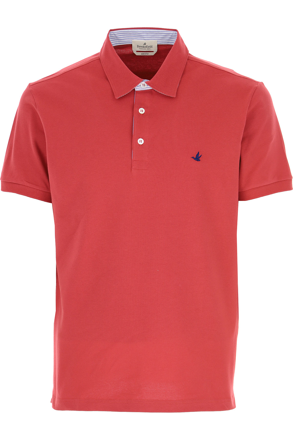 Brooksfield Polo Shirt for Men On Sale, Red, Cotton, 2019, L M XL XXL XXXL