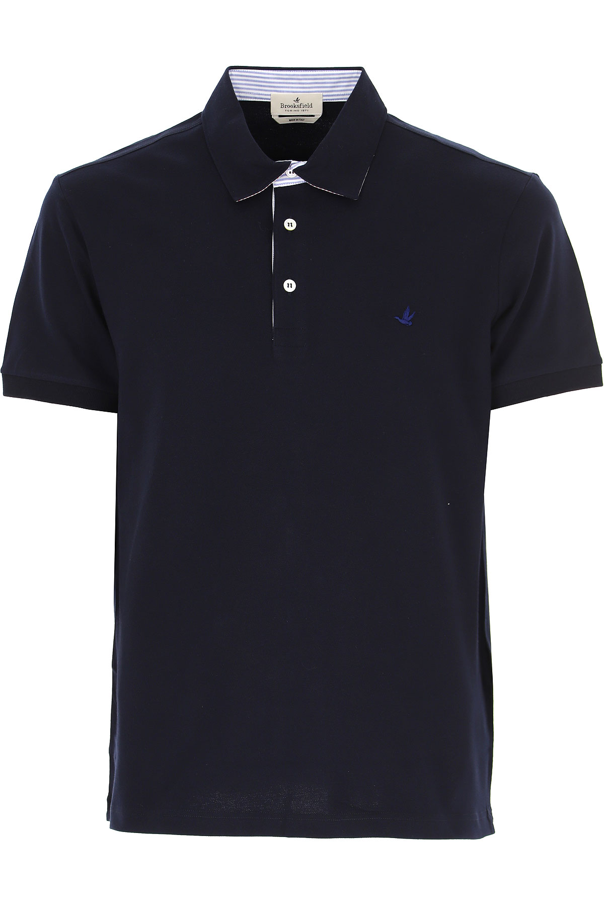 Brooksfield Polo Shirt for Men On Sale, Blue Navy, Cotton, 2019, L M XL XXL XXXL