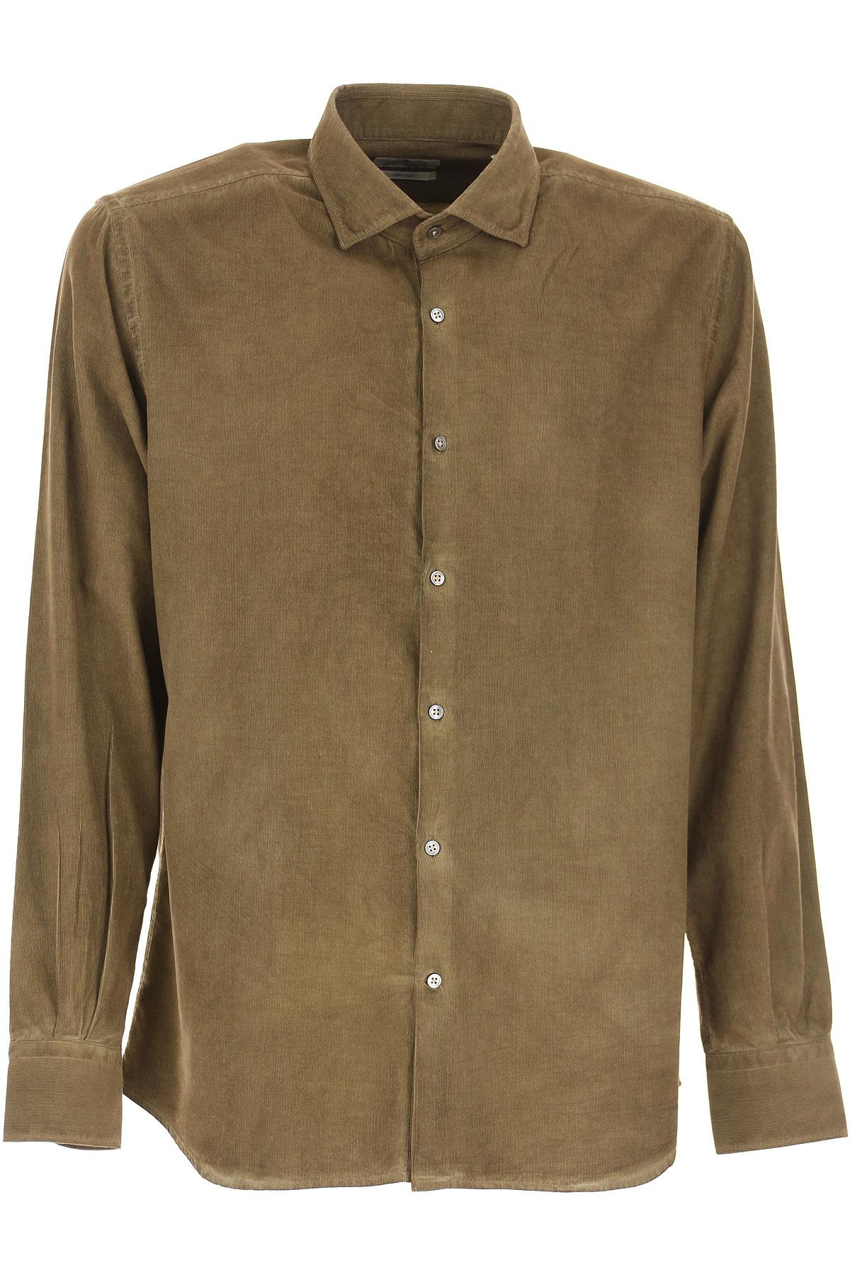 Brooksfield Shirt for Men On Sale, Mud, Cotton, 2019, 15.5 15.75 16 17