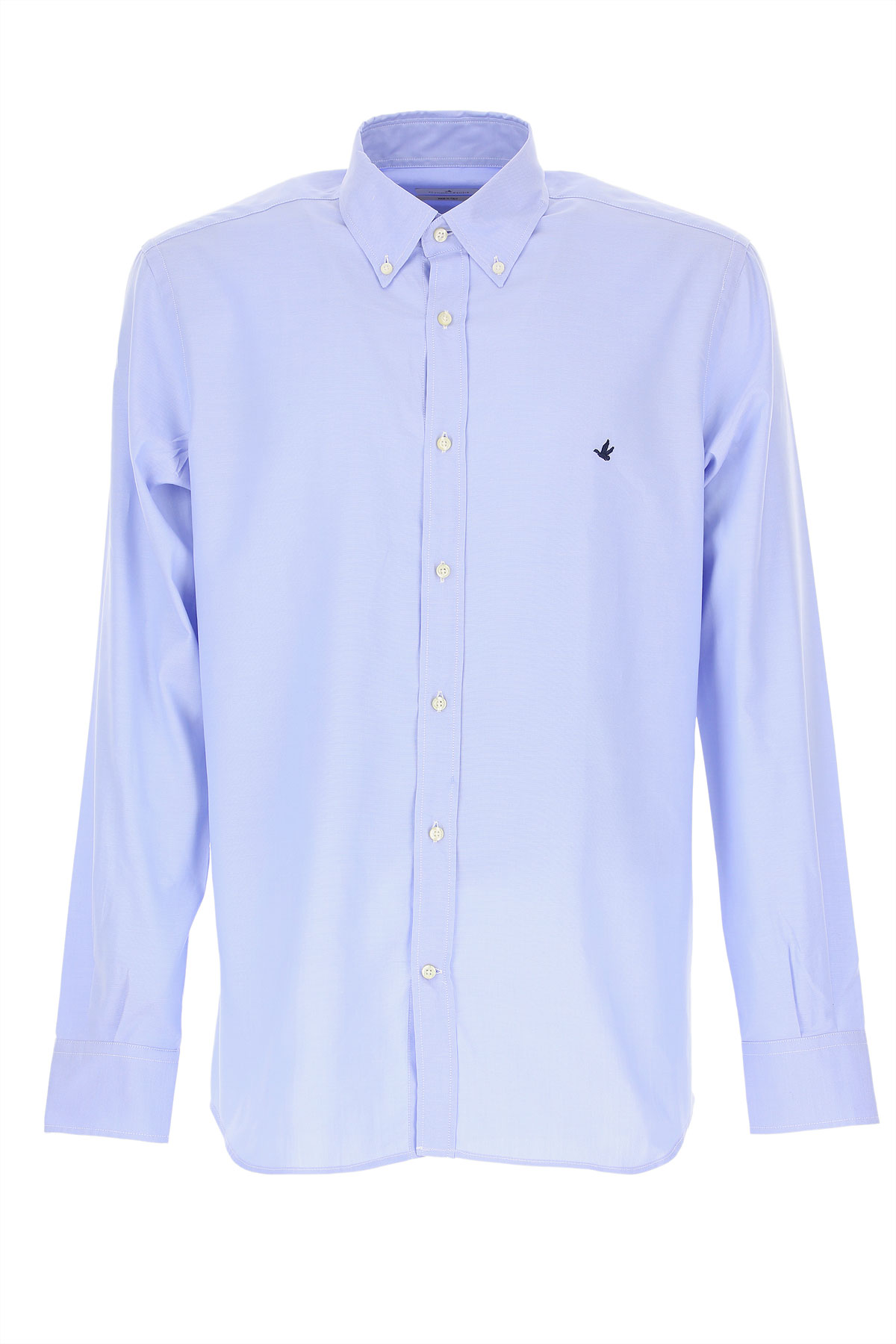 Brooksfield Shirt for Men, Skyblue, Cotton, 2019, 15.5 16 17.5