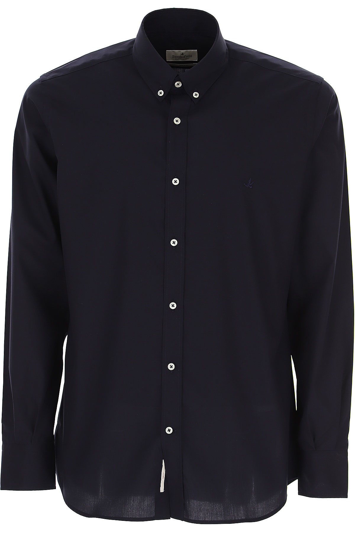 Brooksfield Shirt for Men On Sale, Black, Cotton, 2019, 15.5 15.75 16 16.5 17 17.5