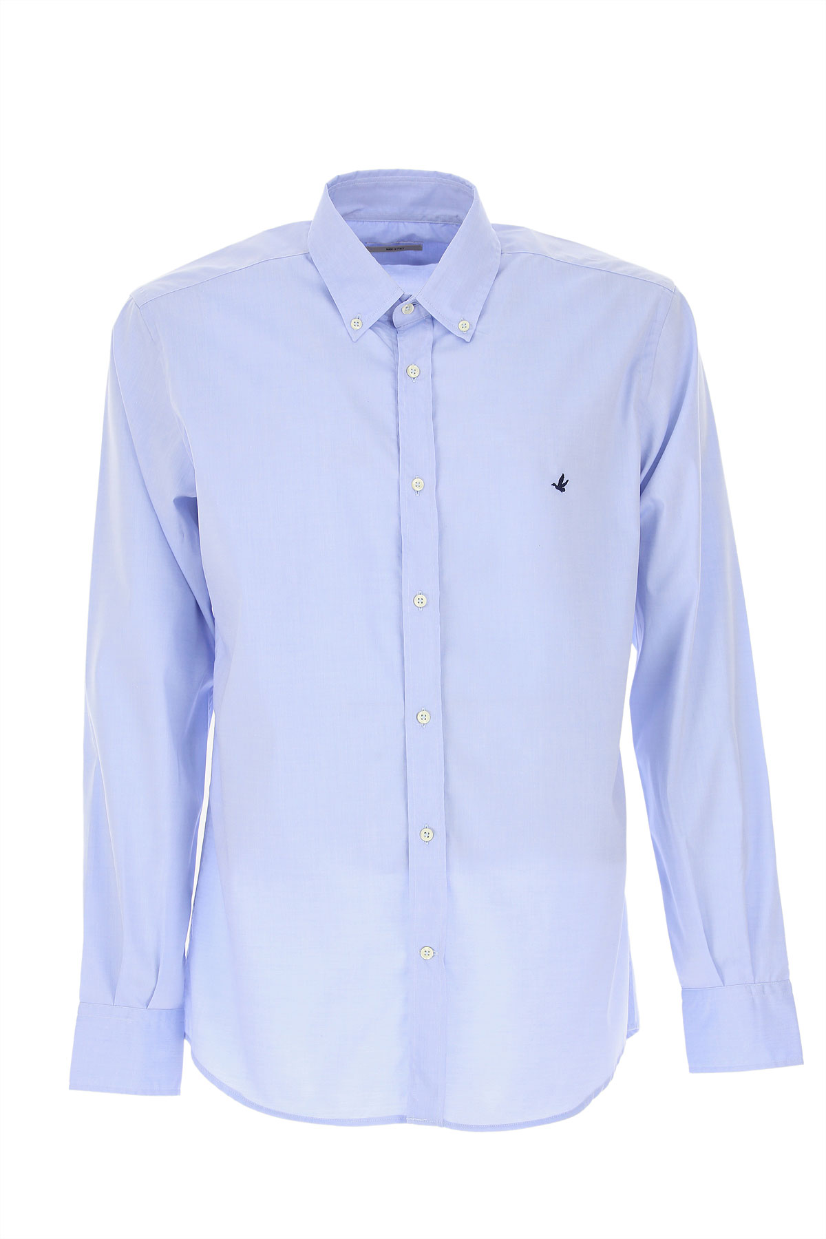 Brooksfield Shirt for Men, Pale Blue, Cotton, 2019, 15.5 16