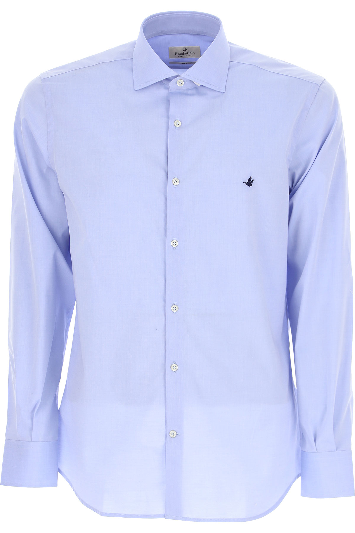 Brooksfield Shirt for Men On Sale, Light Pale Blue, Cotton, 2019, 15.5 15.75 16 16.5 17 17.5
