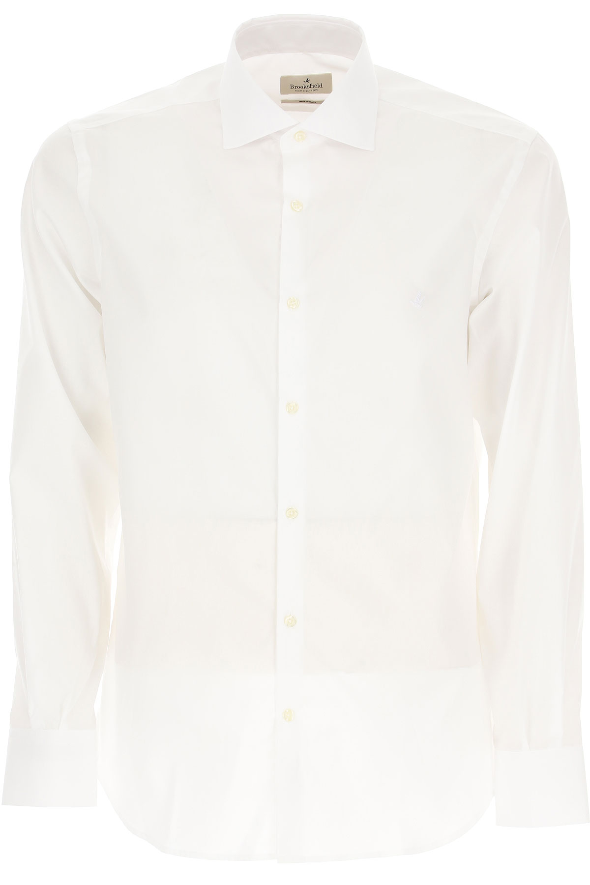 Brooksfield Shirt for Men On Sale, White, Cotton, 2019, 15.5 15.75 16 16.5 17 17.5