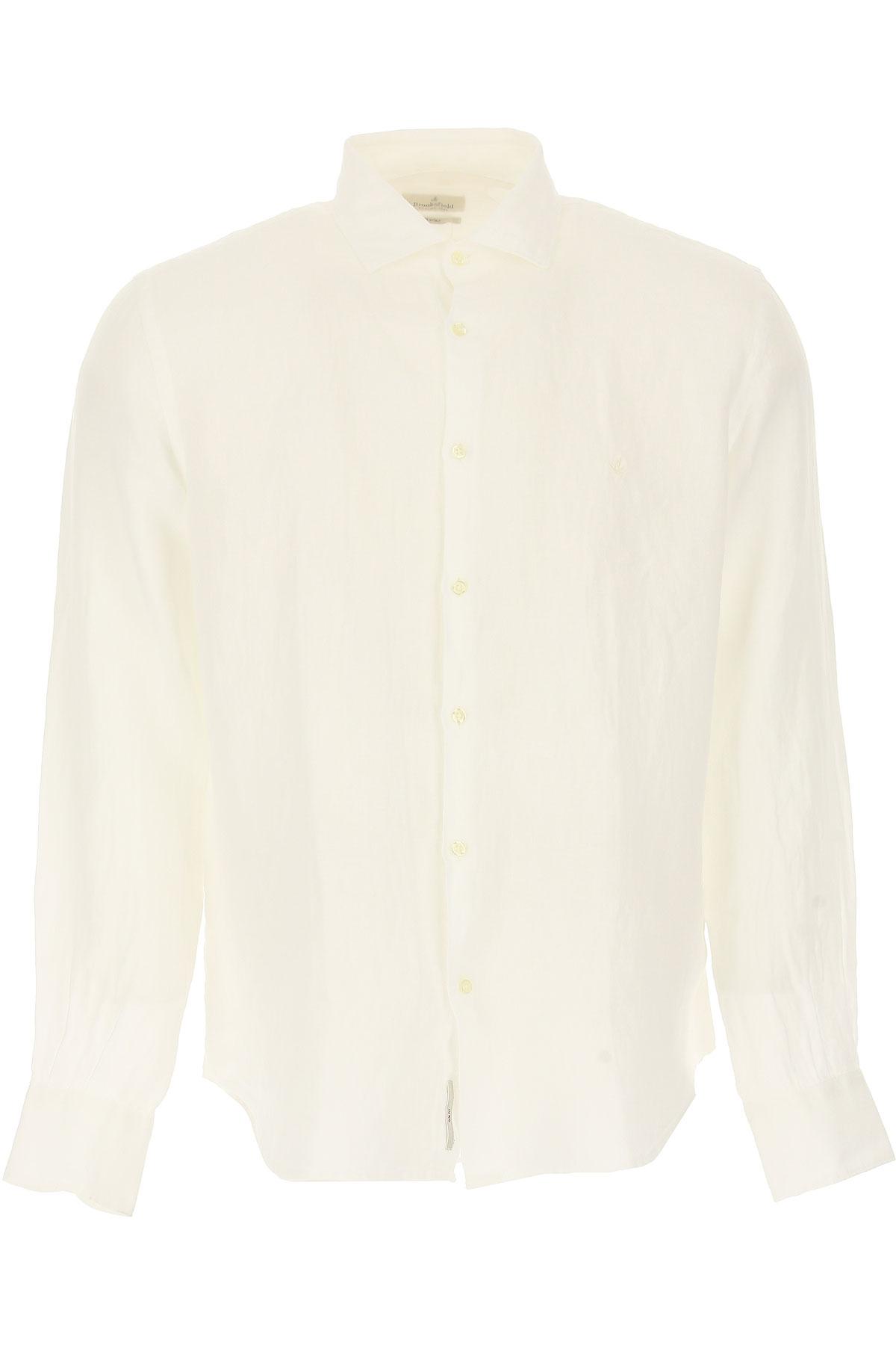 Brooksfield Shirt For Men On Sale, Light Ivory, Linen, 2019, 15.5 15.75 16 17 17.5