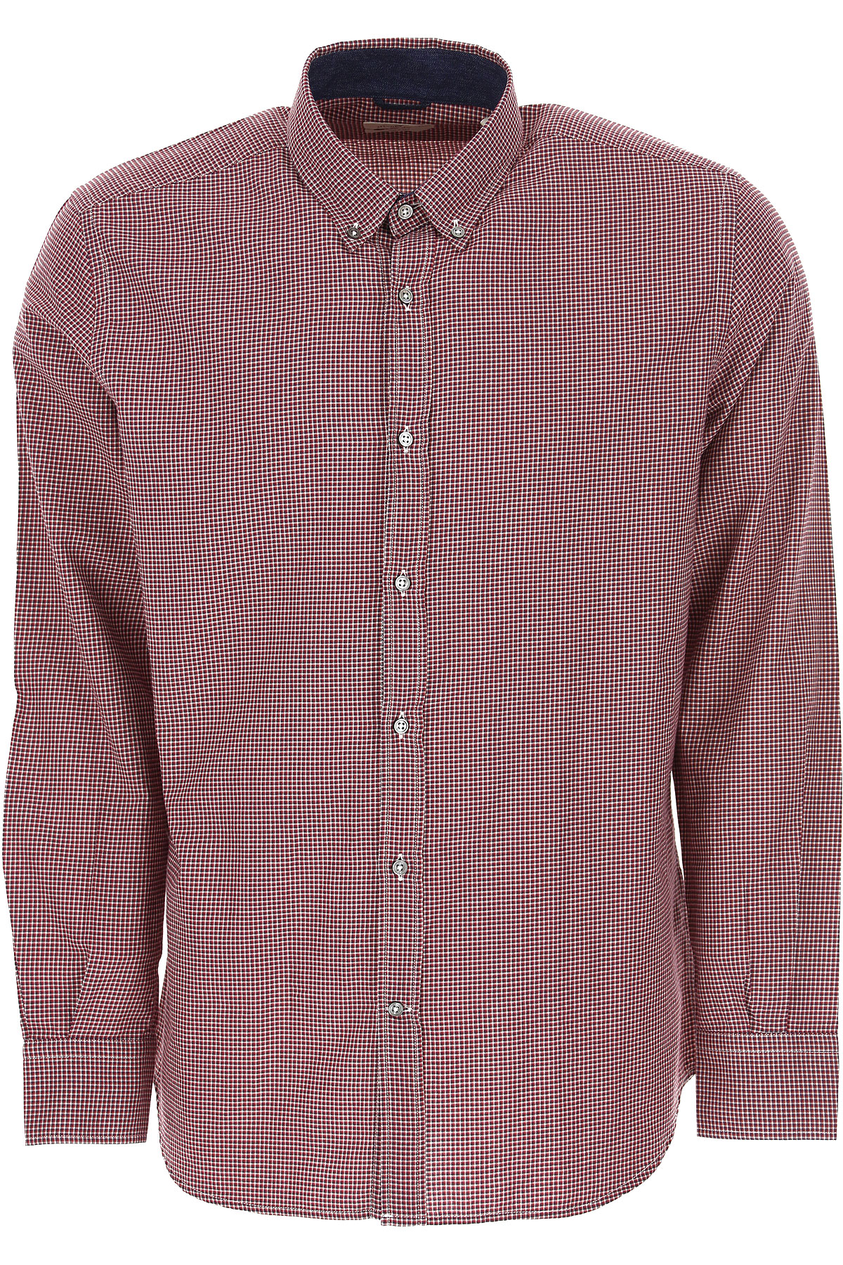 Brooksfield Shirt for Men, Red, Cotton, 2019, 15.5 15.75 16 16.5