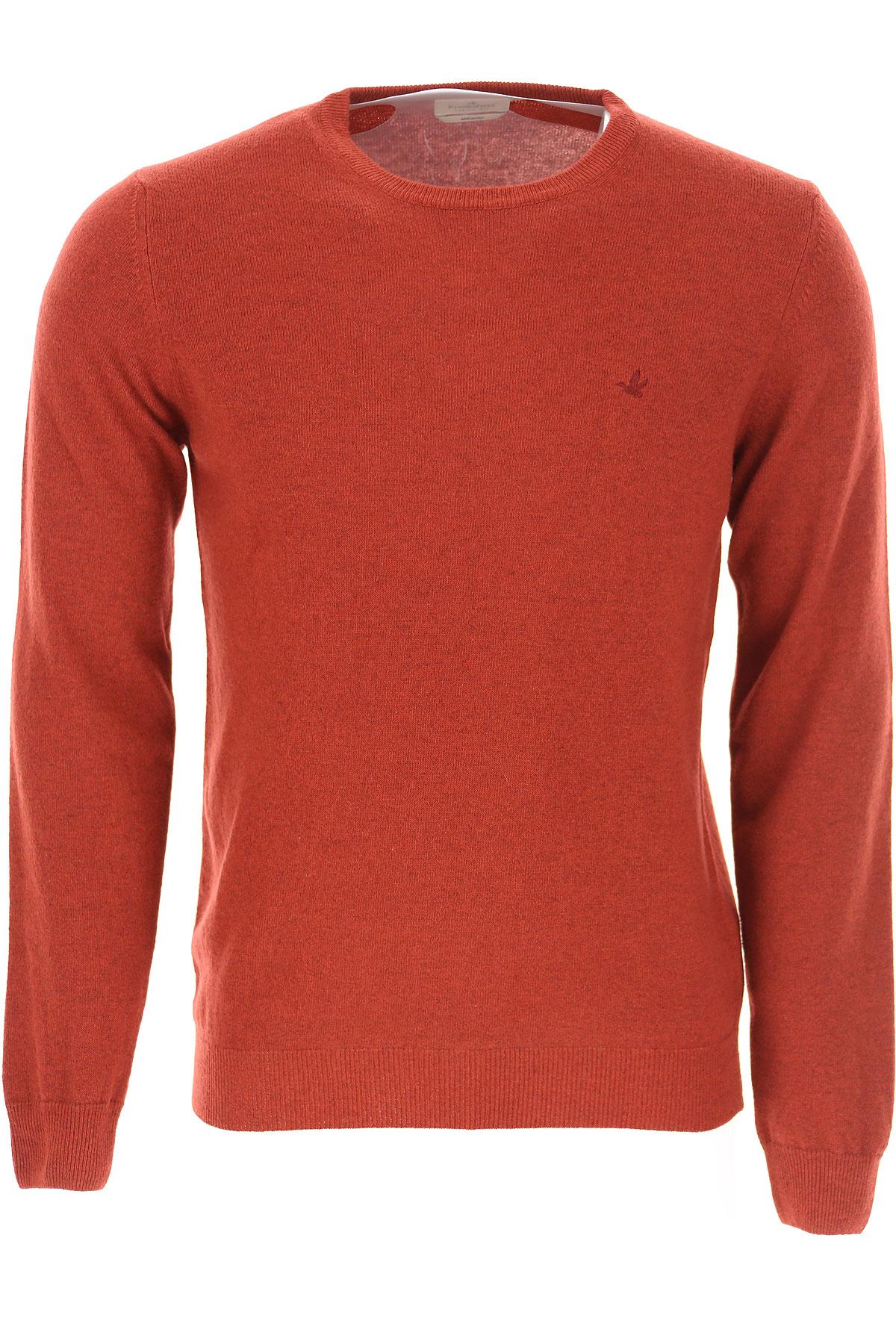 Brooksfield Sweater for Men Jumper On Sale, Berry Red, Wool, 2019, L M XL XXL XXXL