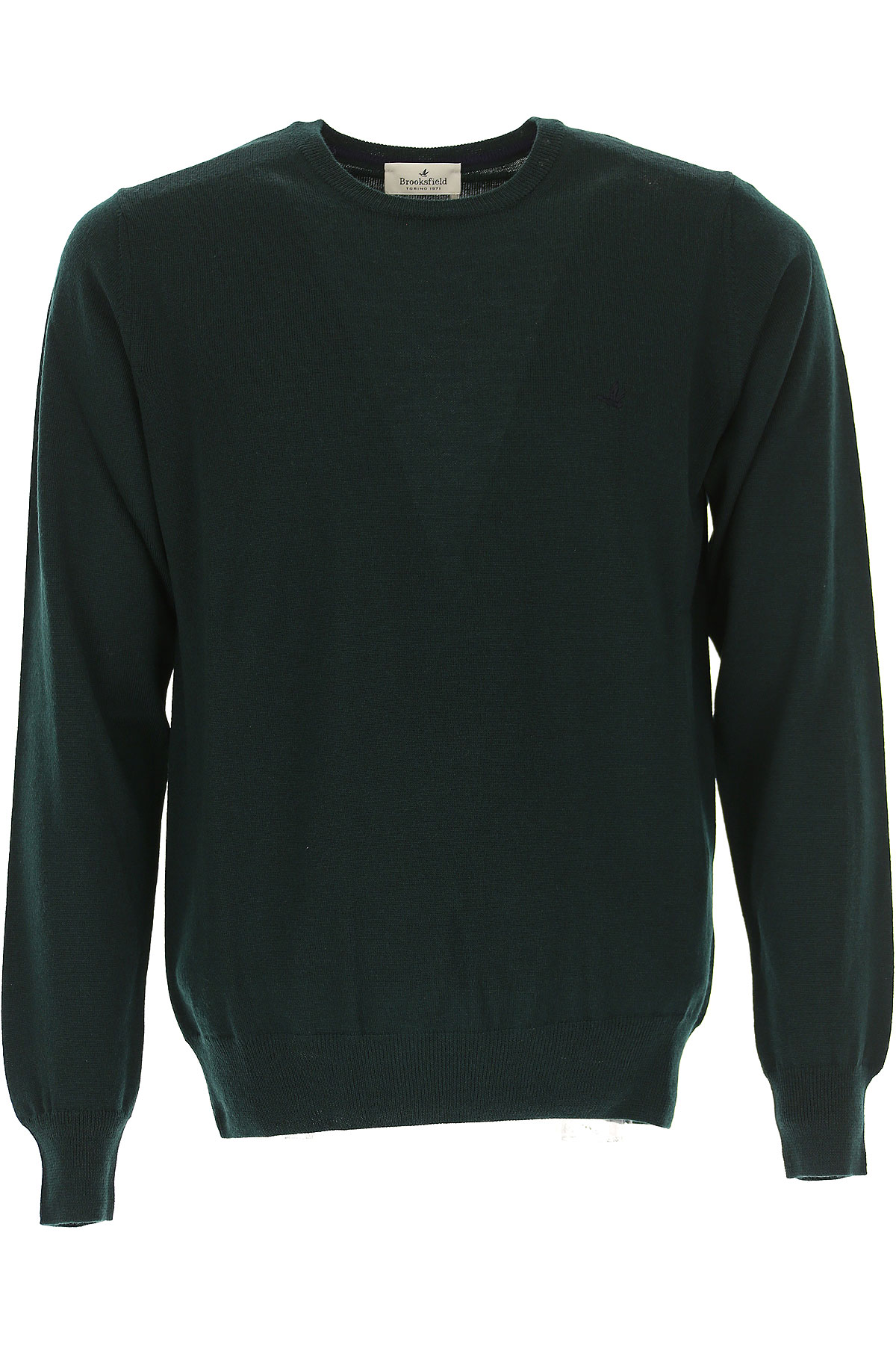 Image of Brooksfield Sweater for Men Jumper, Dark Green, Virgin wool, 2017, L M