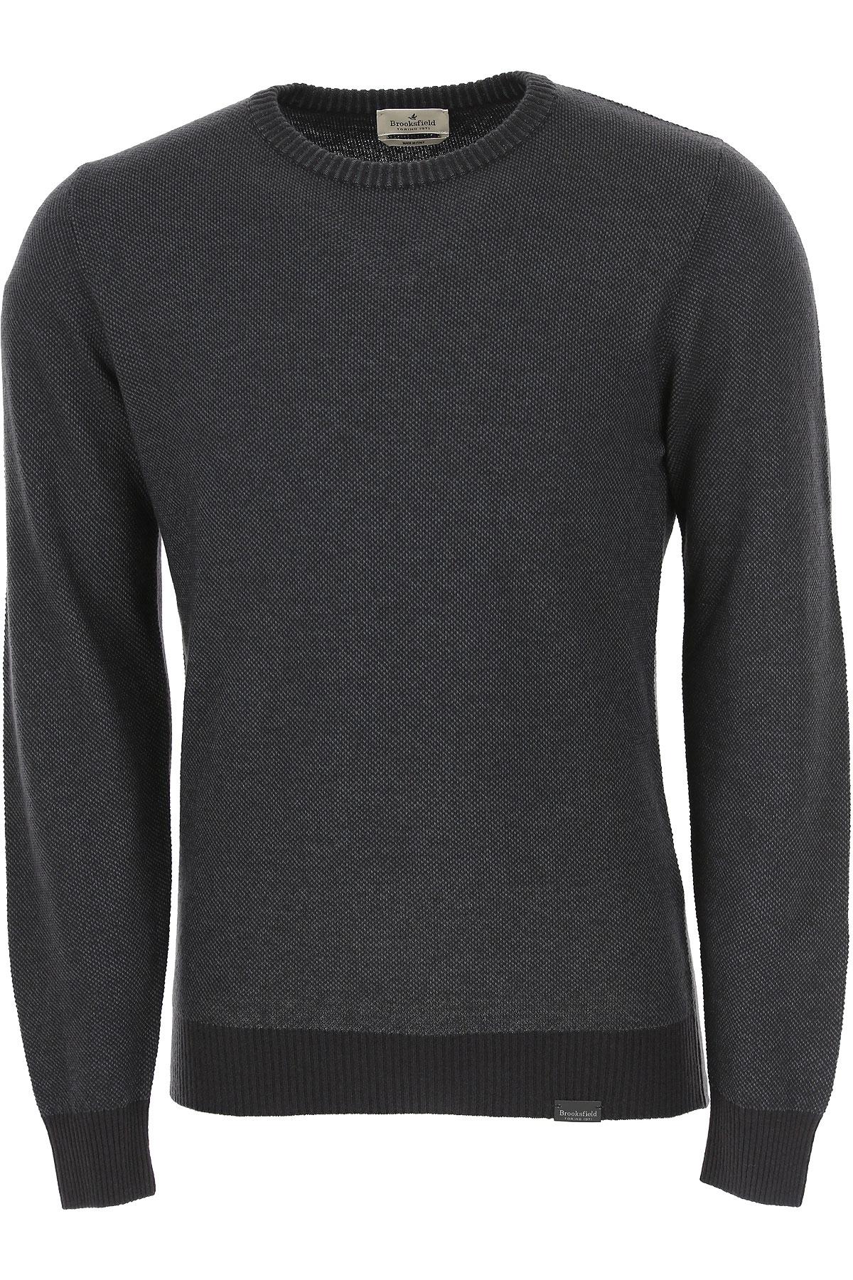 Brooksfield Sweater for Men Jumper On Sale, Black, Wool, 2019, L M XXL
