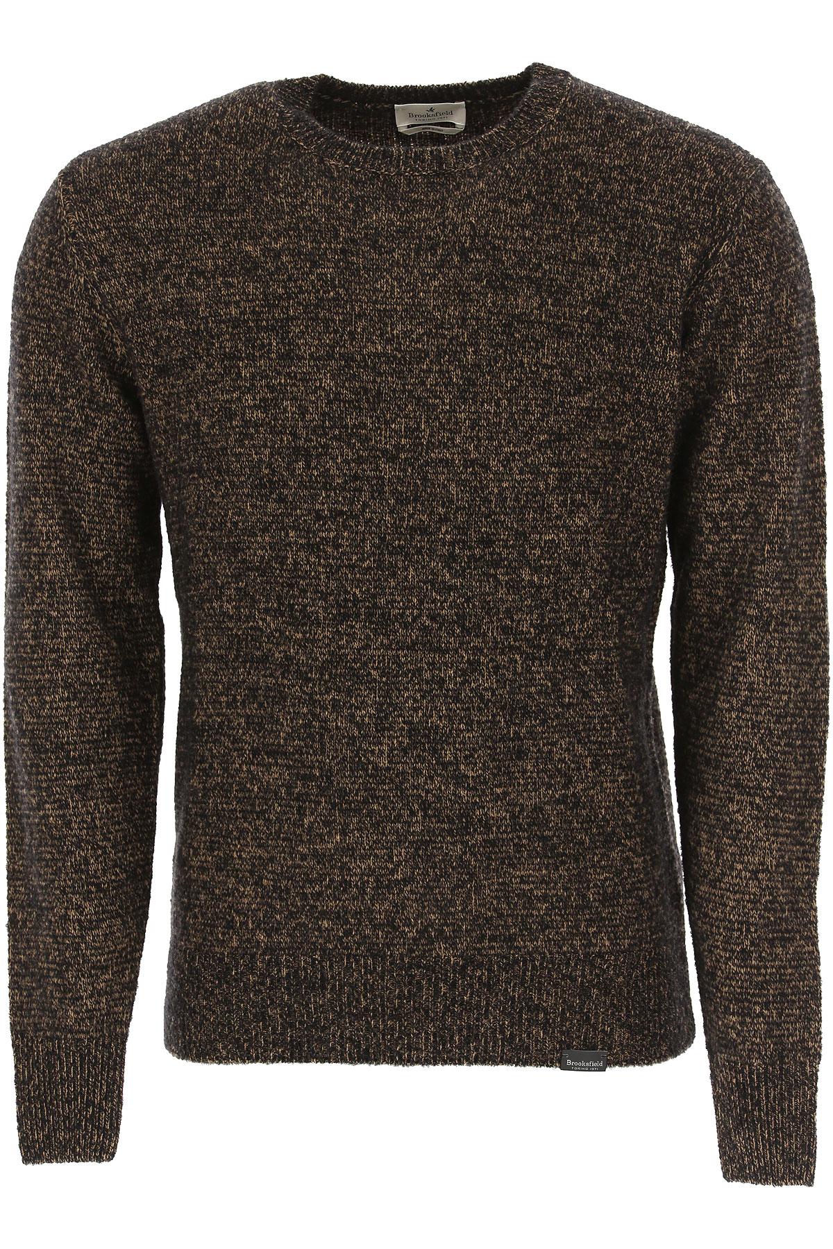 Brooksfield Sweater for Men Jumper On Sale, Bark, Virgin wool, 2019, L M XL XXL XXXL