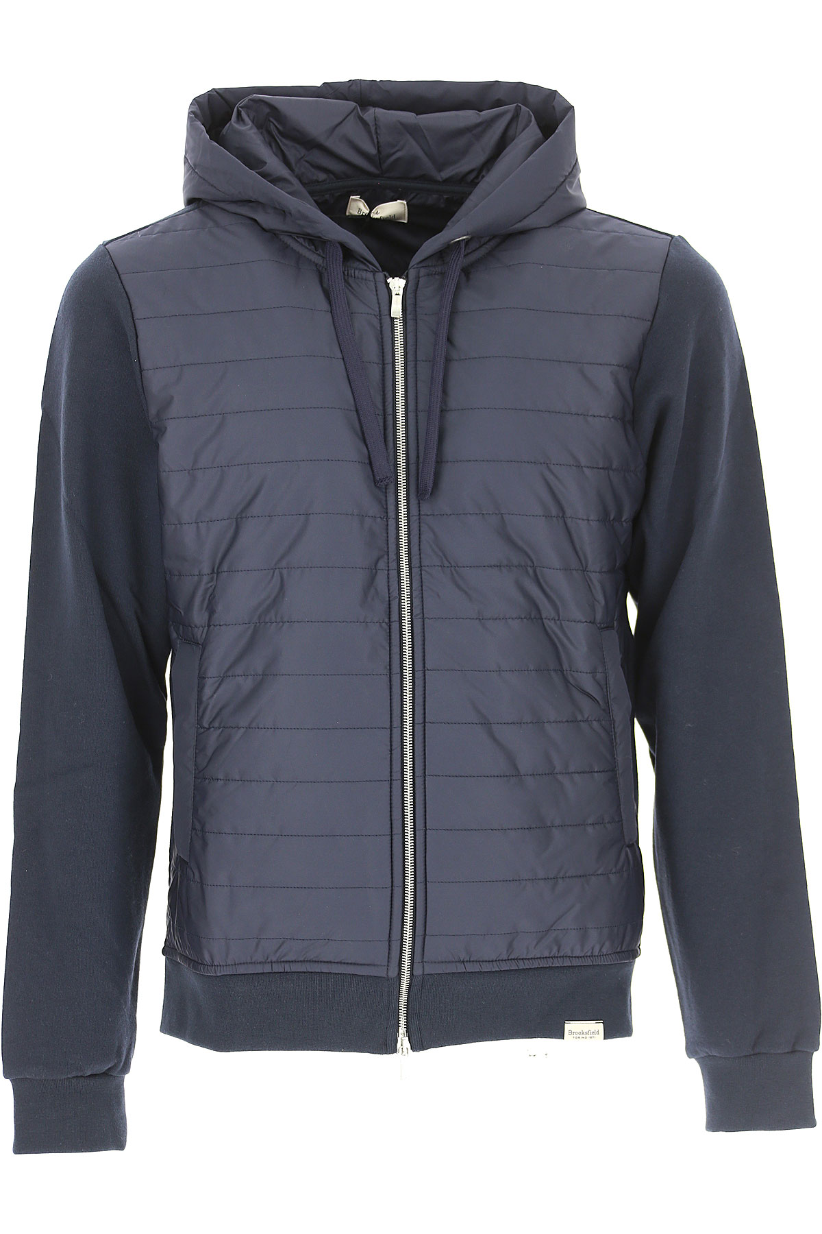 Image of Brooksfield Down Jacket for Men, Puffer Ski Jacket, navy, Cotton, 2017, L XL