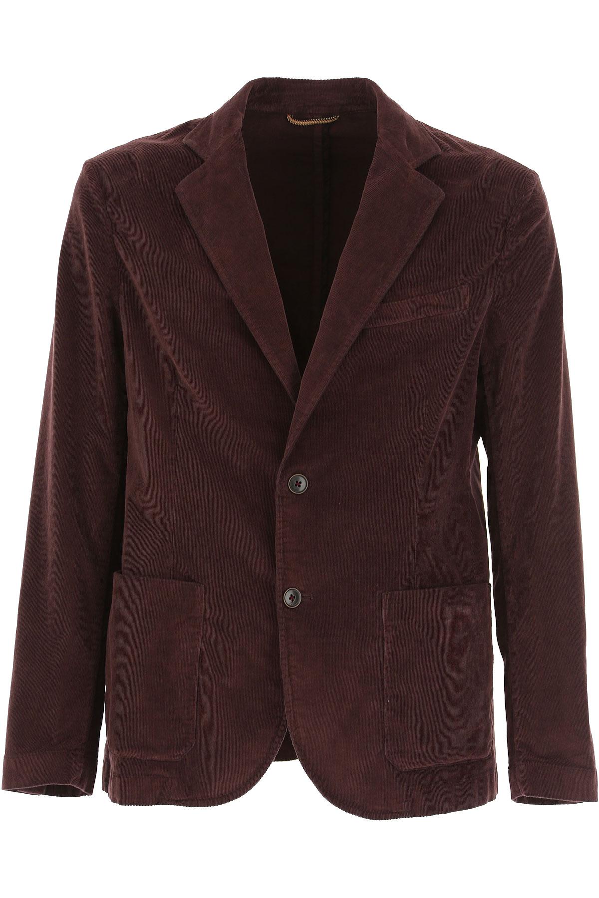 Brooksfield Blazer for Men, Sport Coat On Sale, raisin, Cotton, 2019, L M S XL