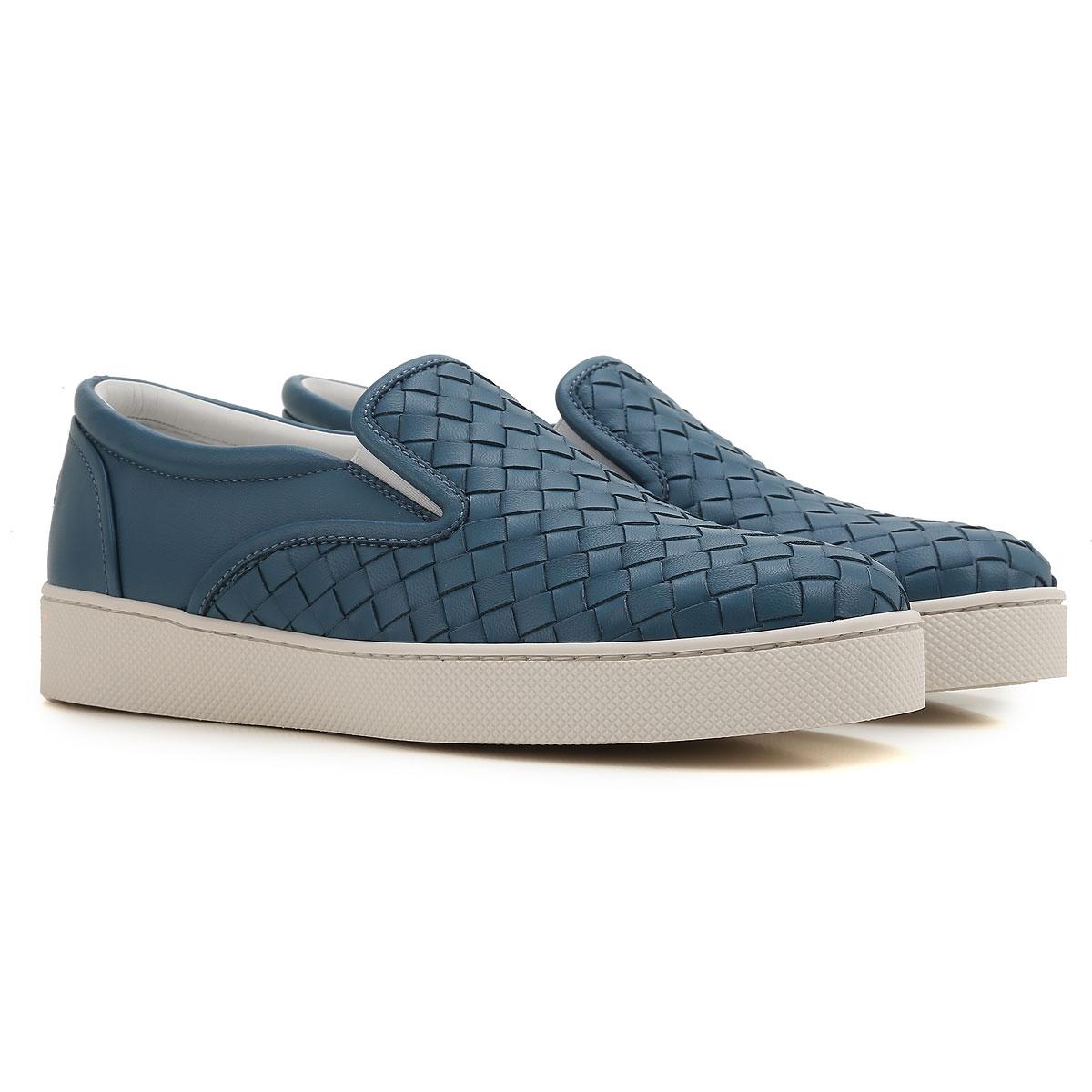 Bottega Veneta Slip on Sneakers for Women On Sale in Outlet, Bluette, Leather, 2017, 6 8