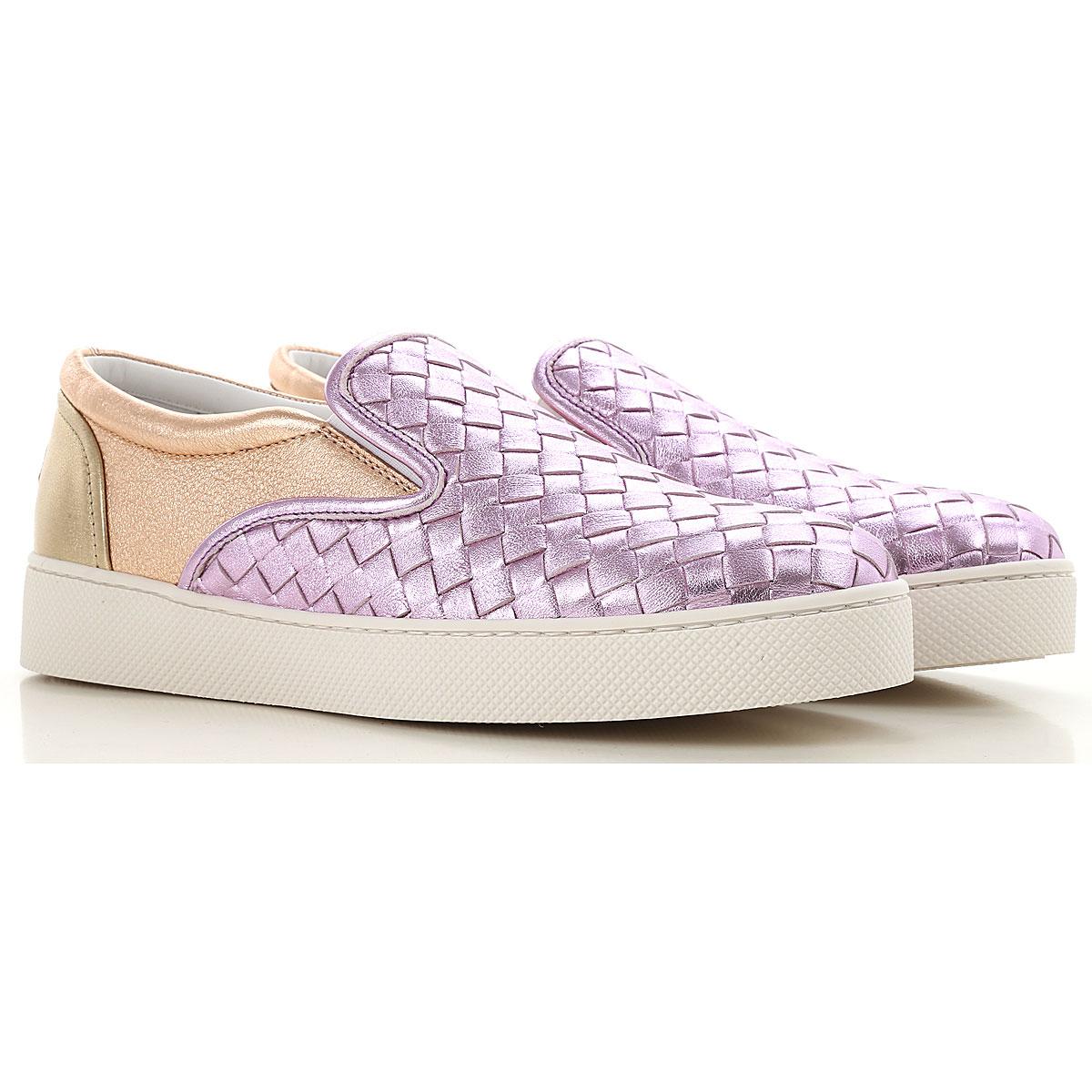 Image of Bottega Veneta Slip on Sneakers for Women, Fluo Pink, Patent, 2017, 10 5 6 7 8