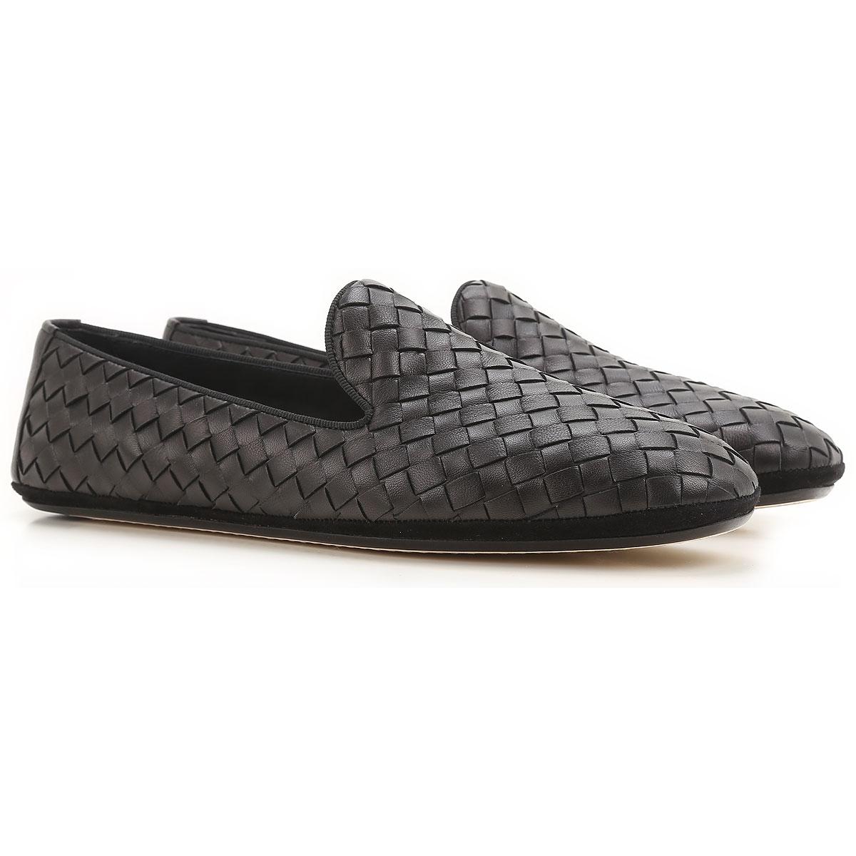 Image of Bottega Veneta Slip on Sneakers for Women On Sale, Black, Leather, 2017, 5 8