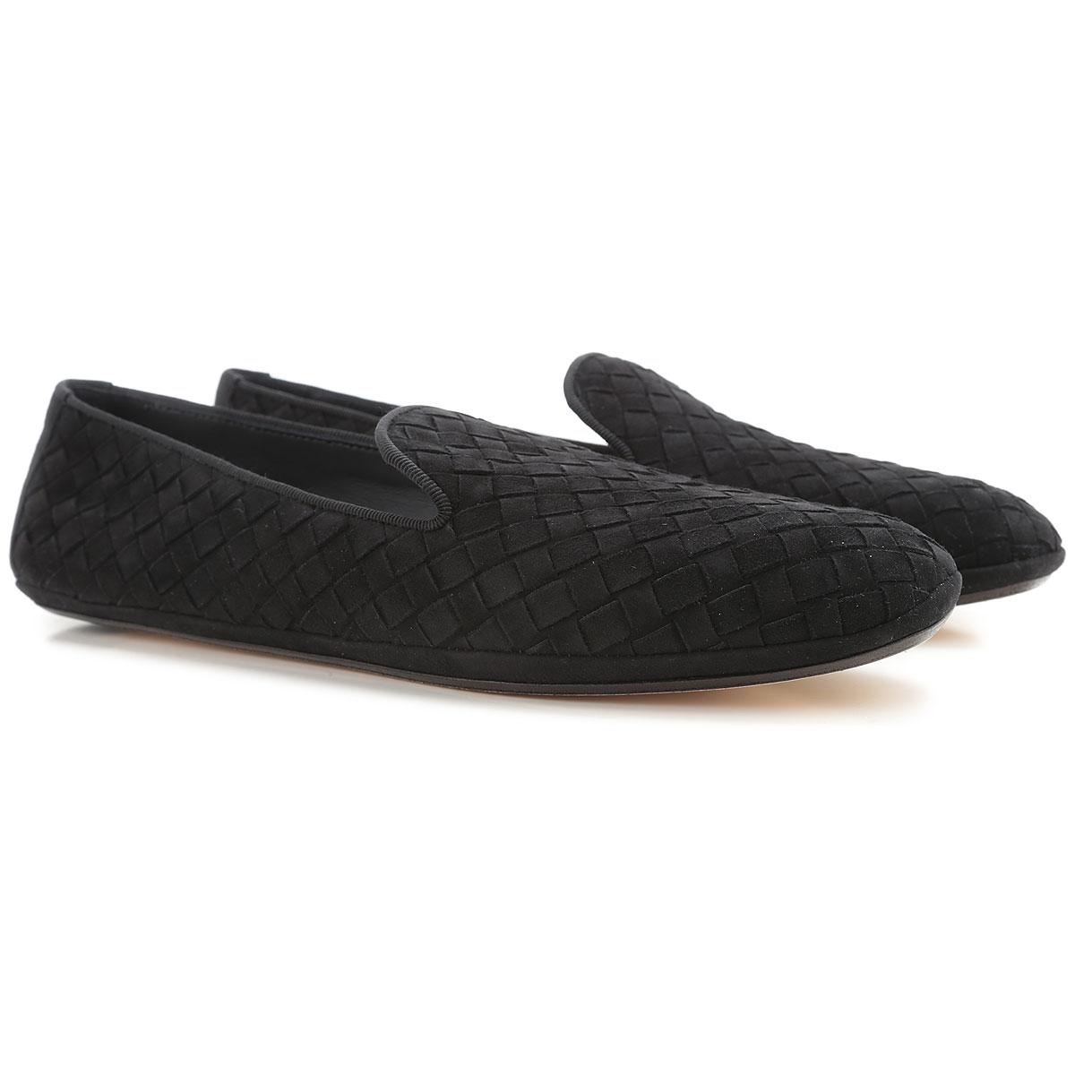 Image of Bottega Veneta Slip on Sneakers for Women On Sale, Black, Suede leather, 2017, 10.5 7 7.5 8