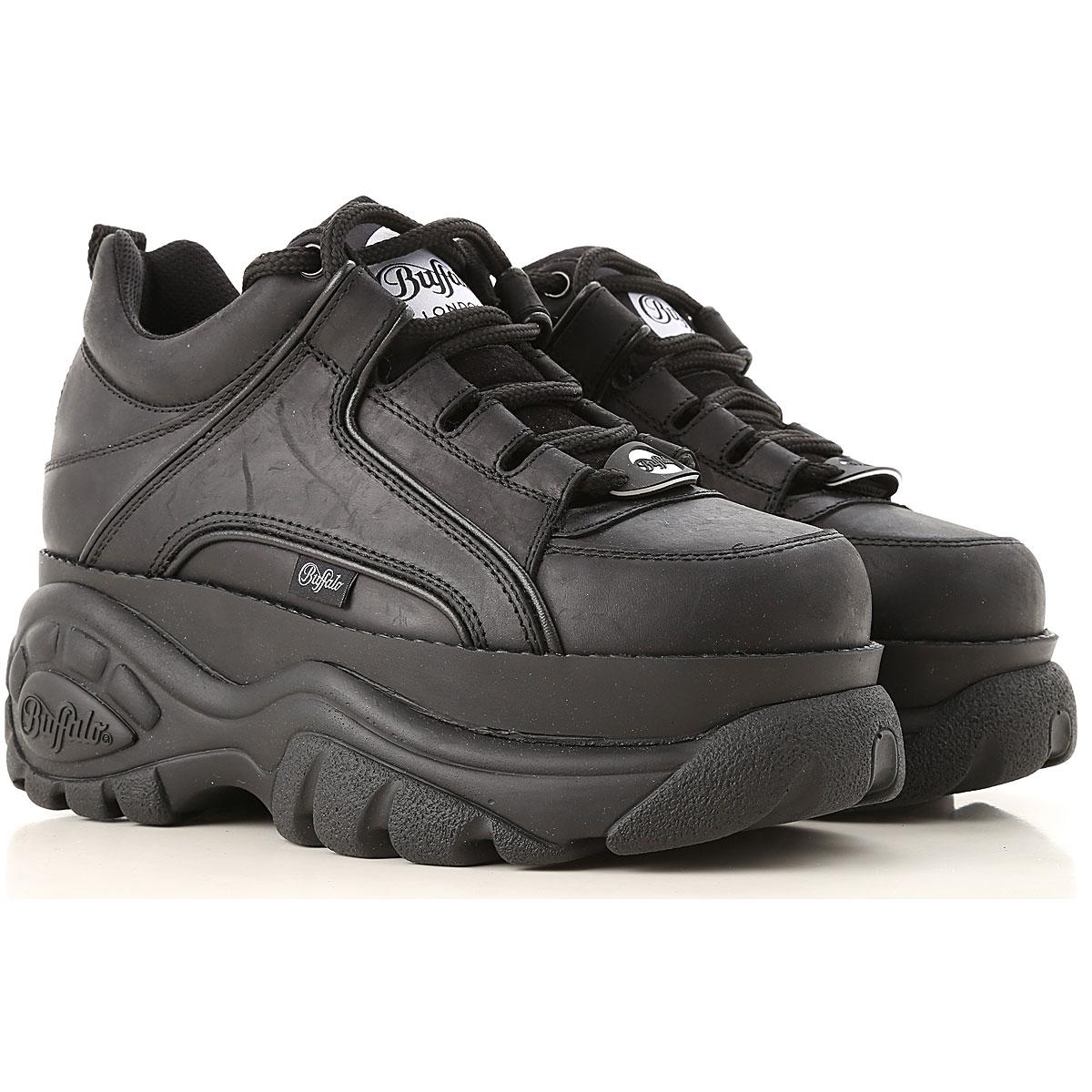 Image of Buffalo Sneakers for Women, Black, Leather, 2017, UK 3 - EU 36 - US 6 UK 4 - EU 37 - US 7 UK 5 - EU 38 - US 8 UK 6 - EU 39 - US 9 UK 7 - EU 40 - US 10