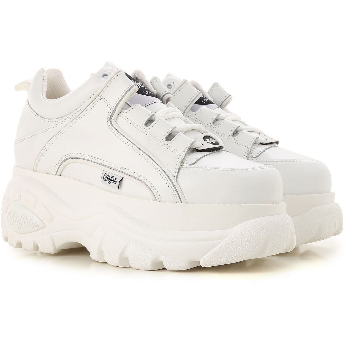 Image of Buffalo Sneakers for Women, White, Leather, 2017, 10 10.5 7 7.5 8 8 9 9