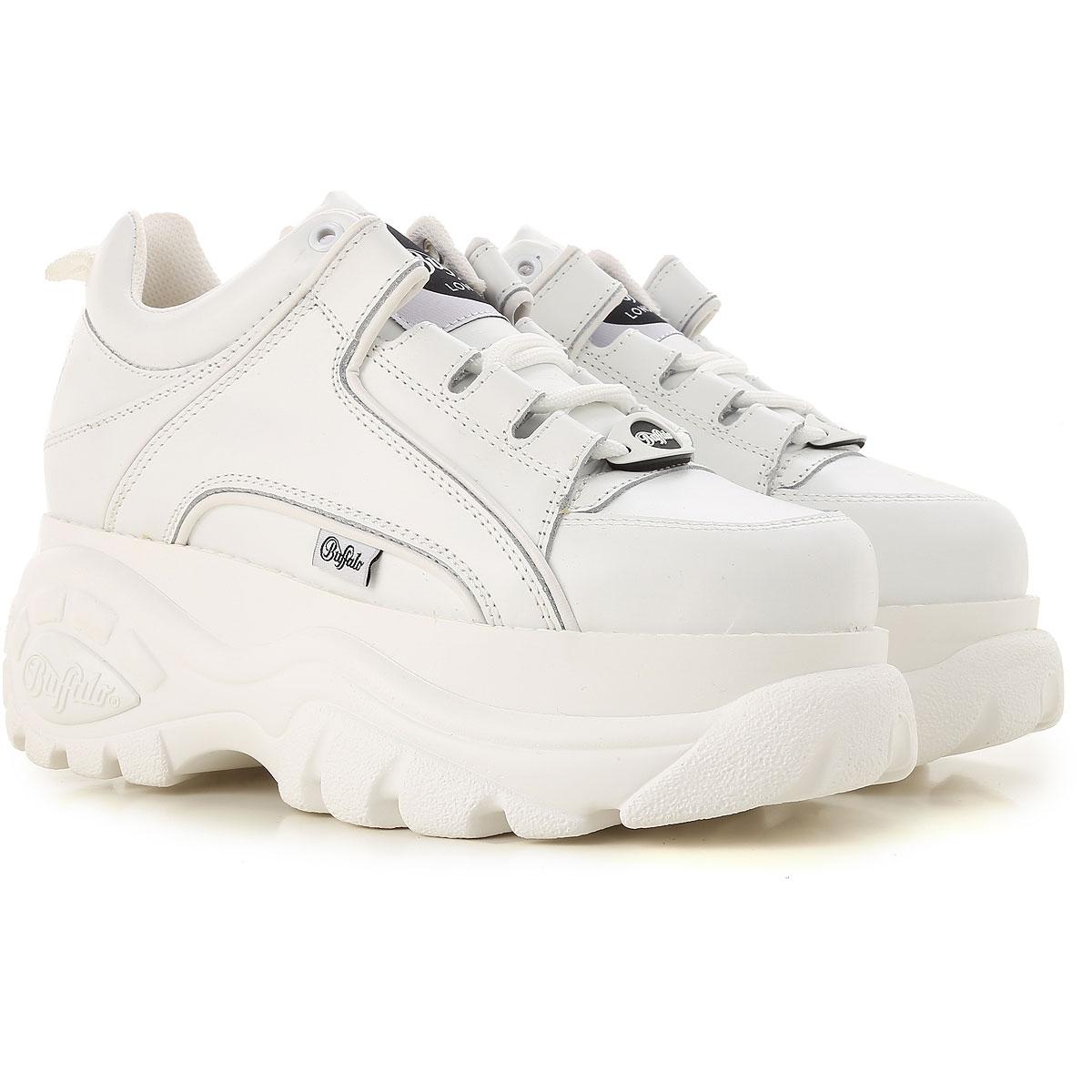 Buffalo Sneakers for Women On Sale, White, Leather, 2019, UK 7 - EU 40 - US 10 UK 6 - EU 40 - US 9 UK 7 - EU 41 - US 10