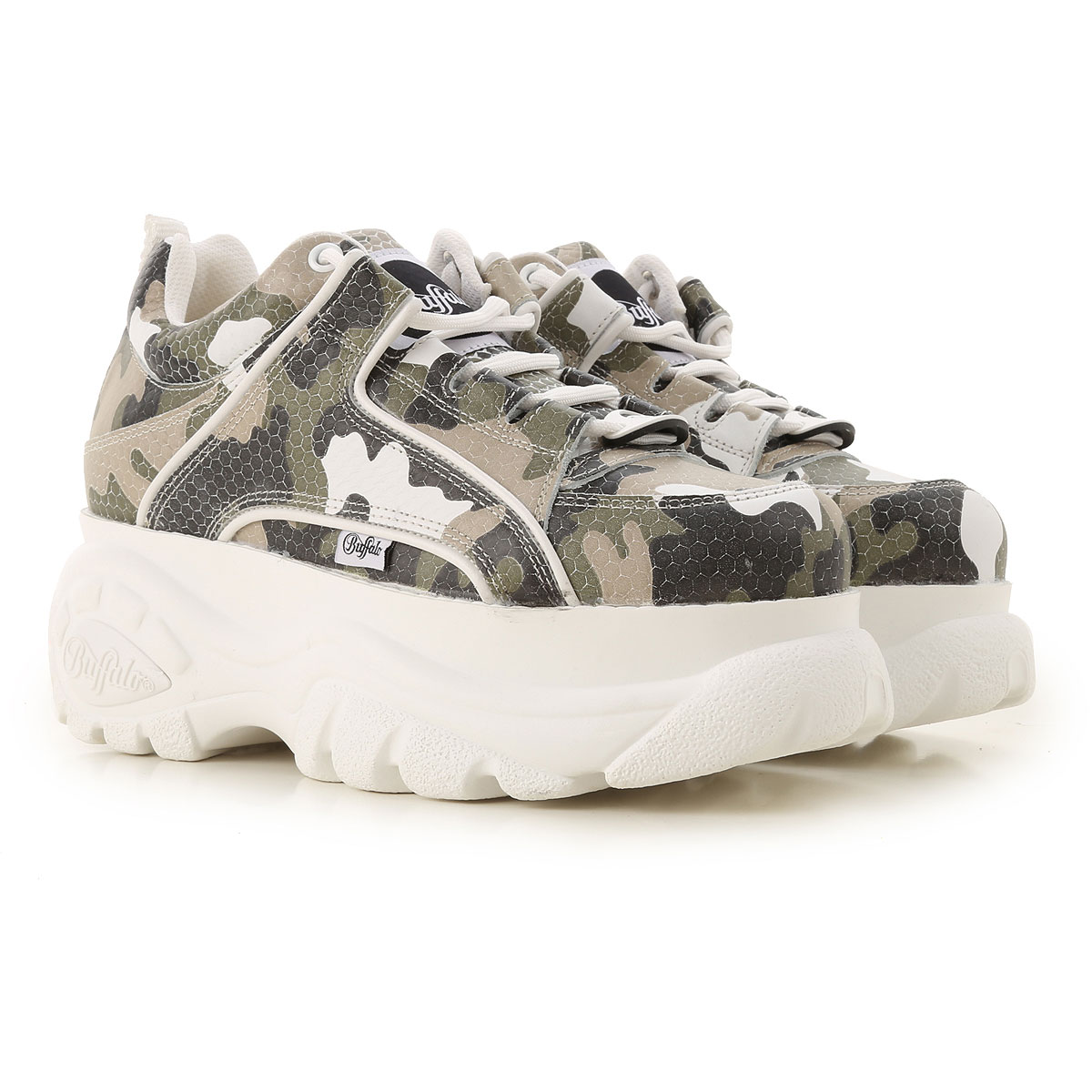 Buffalo Sneakers for Women On Sale in Outlet, camouflage, Leather, 2019, UK 6 - EU 40 - US 9 UK 7 - EU 41 - US 10