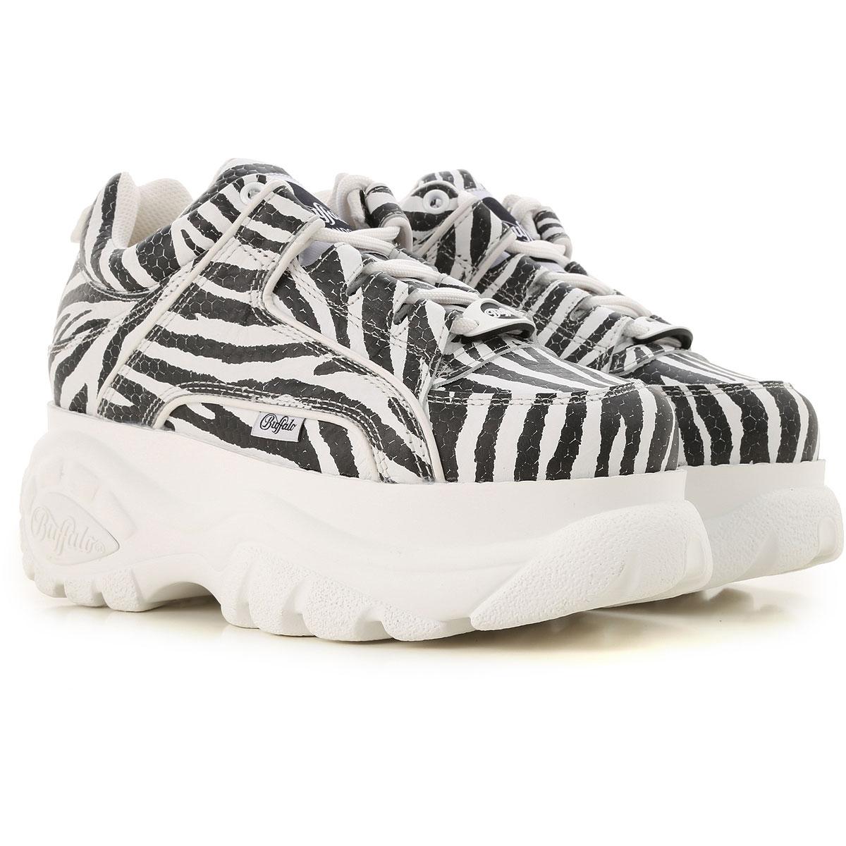 Buffalo Sneakers for Women On Sale in Outlet, Black, Leather, 2019, UK 4 - EU 37 - US 7 UK 5 - EU 38 - US 8 UK 5.5 - EU 39 - US 8.5 UK 6 - EU 40 - US