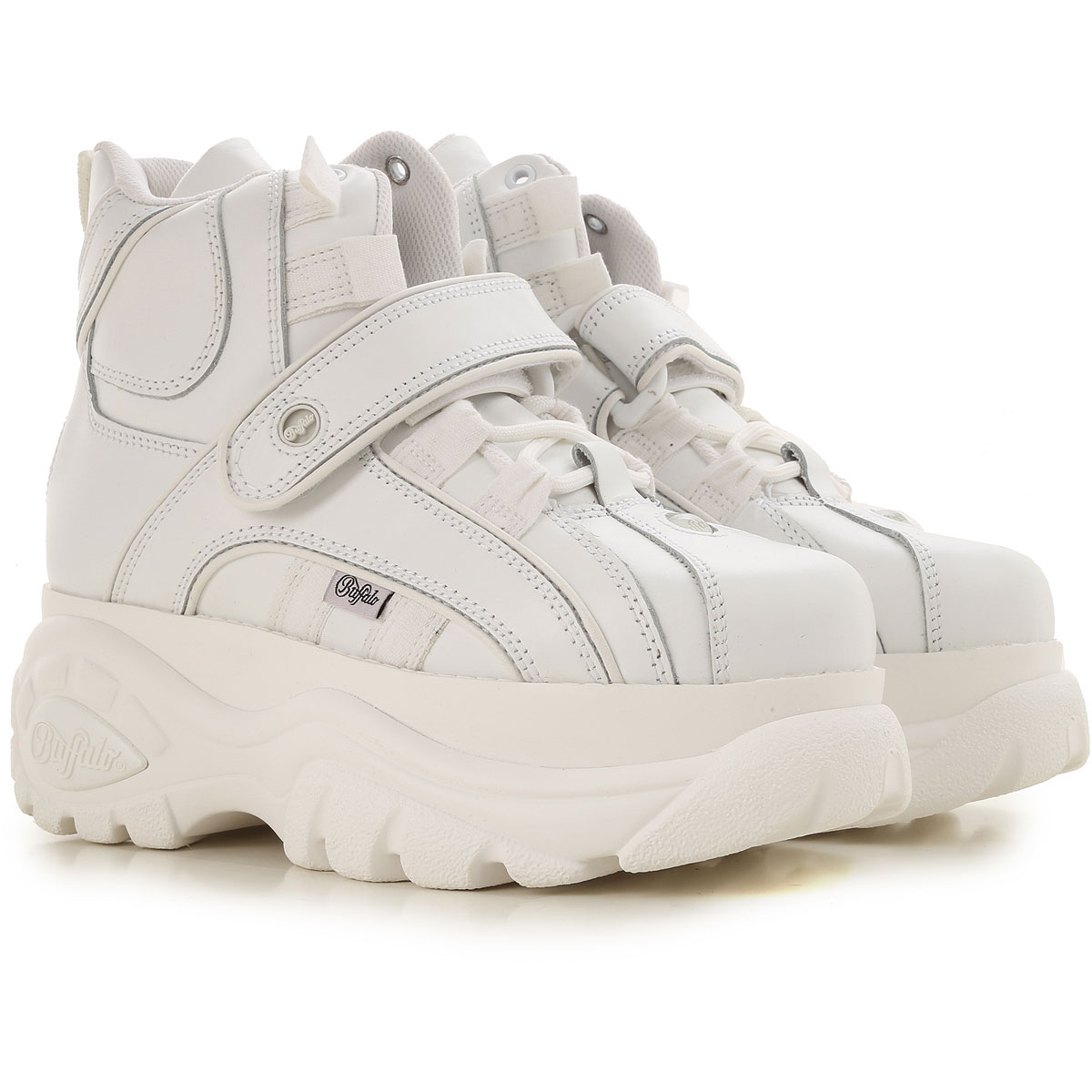 Buffalo Sneakers for Women On Sale in Outlet, White, Leather, 2019, UK 5.5 - EU 39 - US 8.5 UK 6 - EU 40 - US 9
